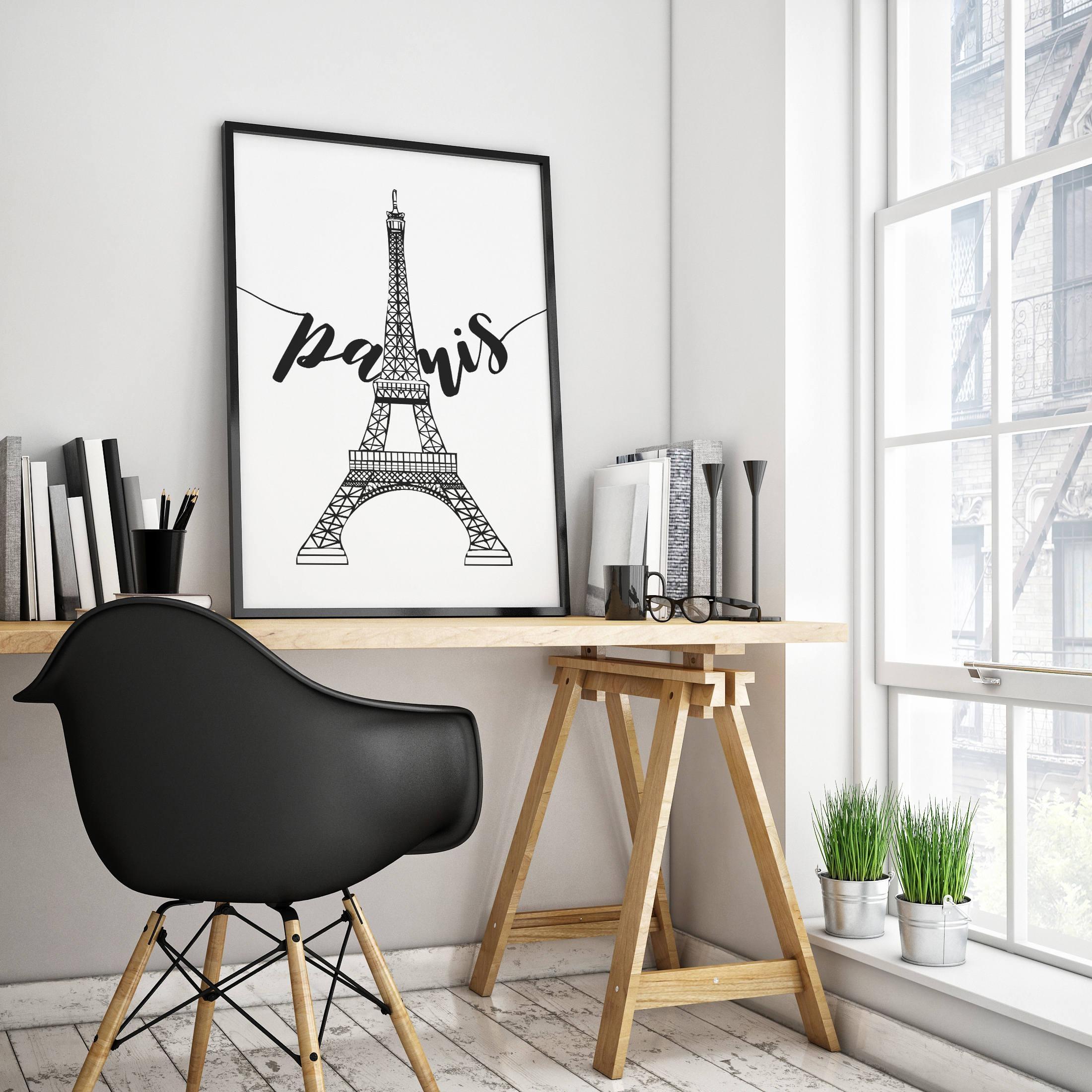 Printable Paris Wall Art Paris Artwork Paris Eiffel Tower Pertaining To Paris Themed Wall Art (Image 13 of 20)