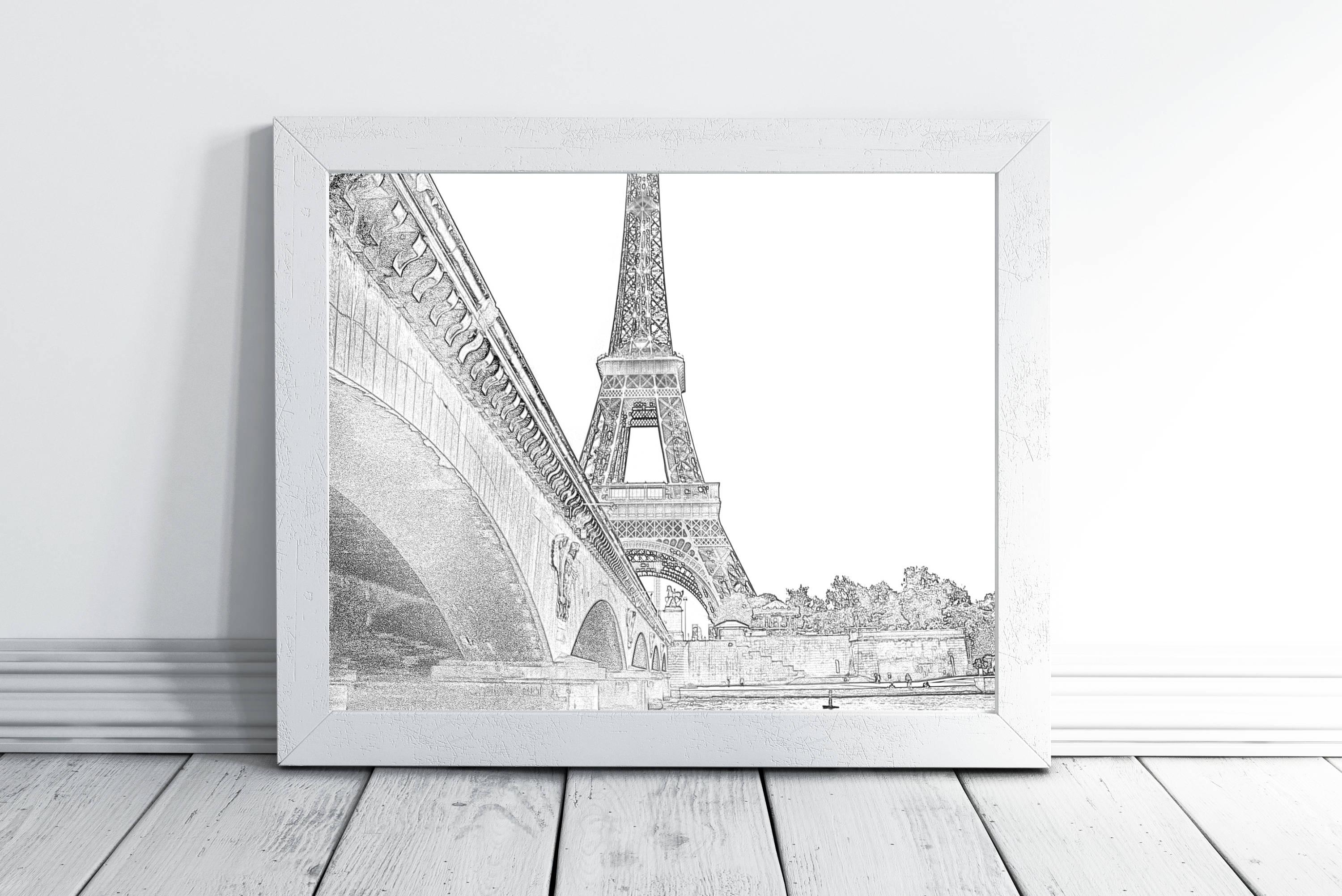 Printable Wall Art Paris Wall Art Decor Eiffel Tower Print For Paris Themed Wall Art (View 13 of 20)