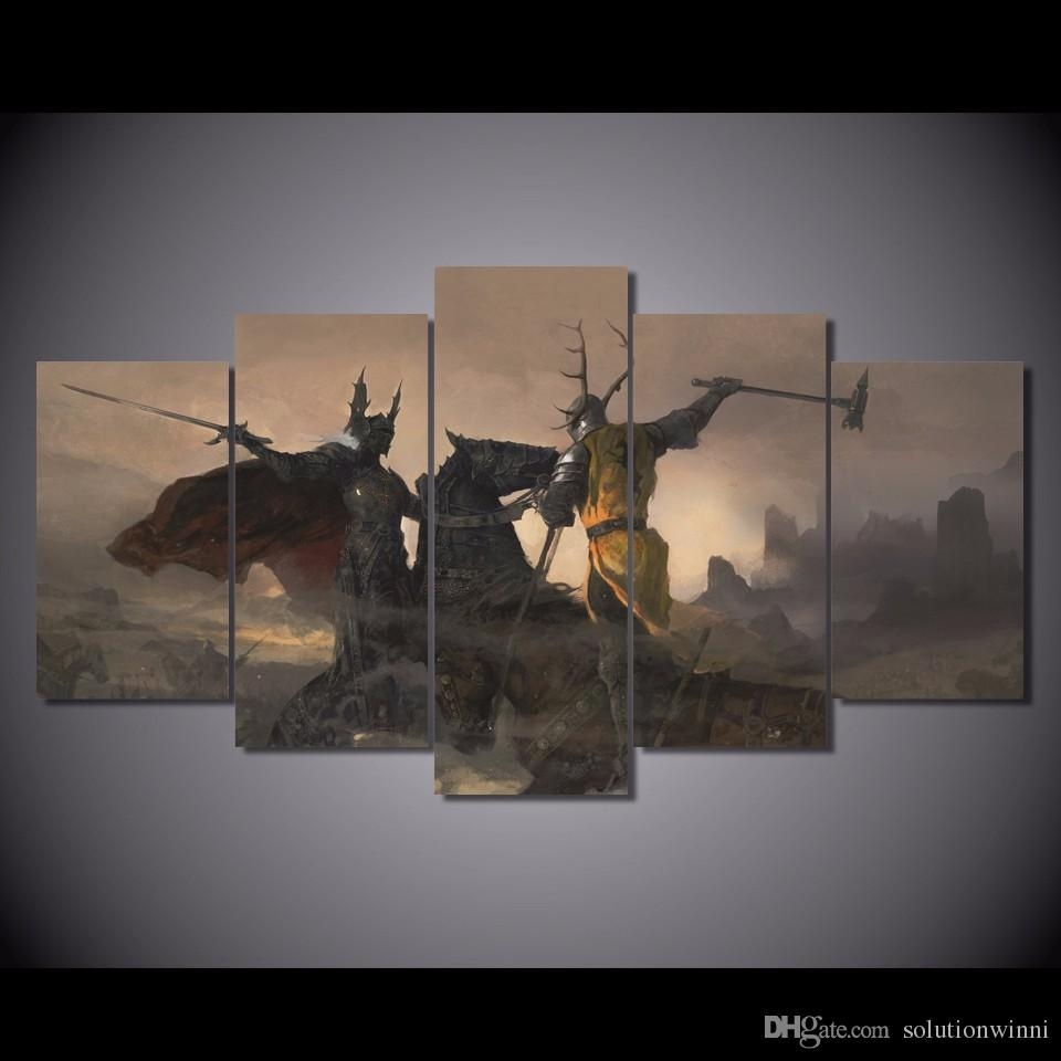 Printed Game Of Thrones Painting Canvas Print Room Decor Print In 3 Piece Wall Art Sets (View 11 of 20)