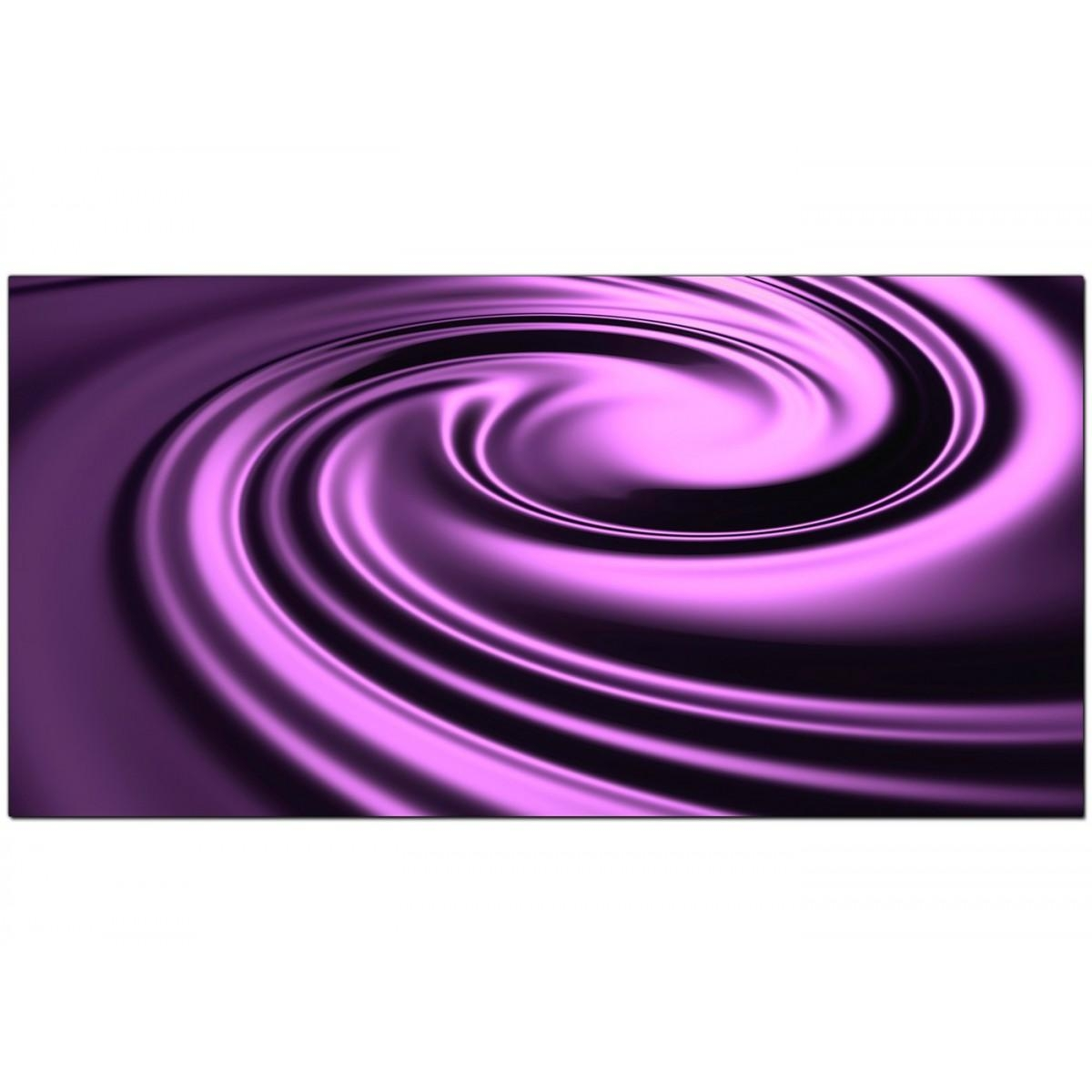 Purple Abstract Canvas Wall Art (120Cm X 50Cm) – 'mesal' For Purple Abstract Wall Art (Image 11 of 20)