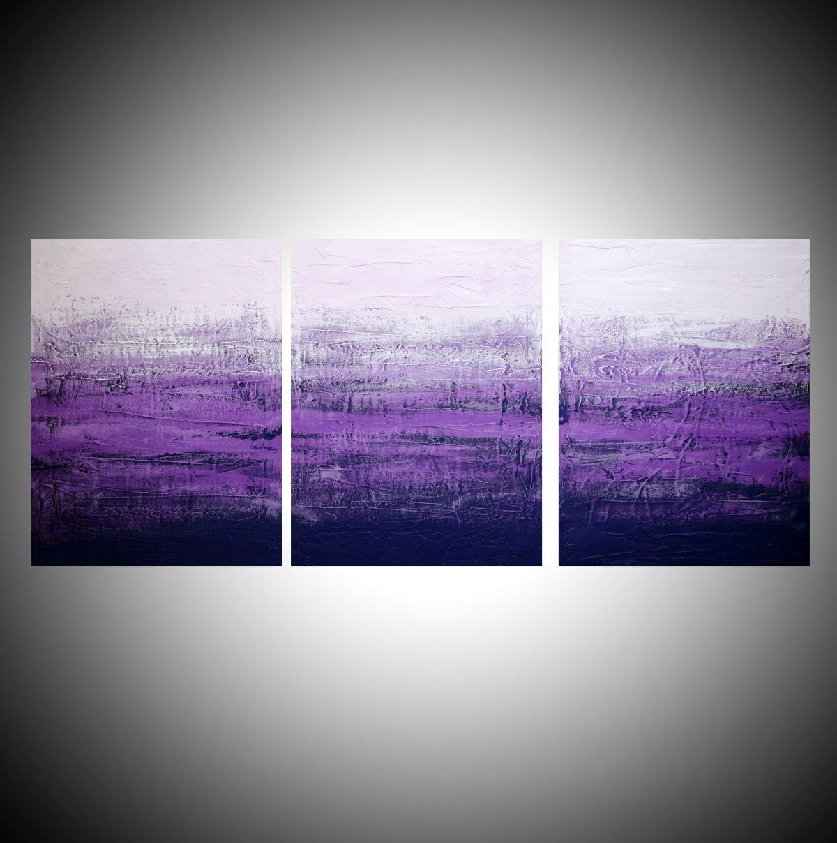 Purple Abstractstuart Wright Abstract Painter Buy Online 48 Inside Triptych Art For Sale (View 20 of 20)