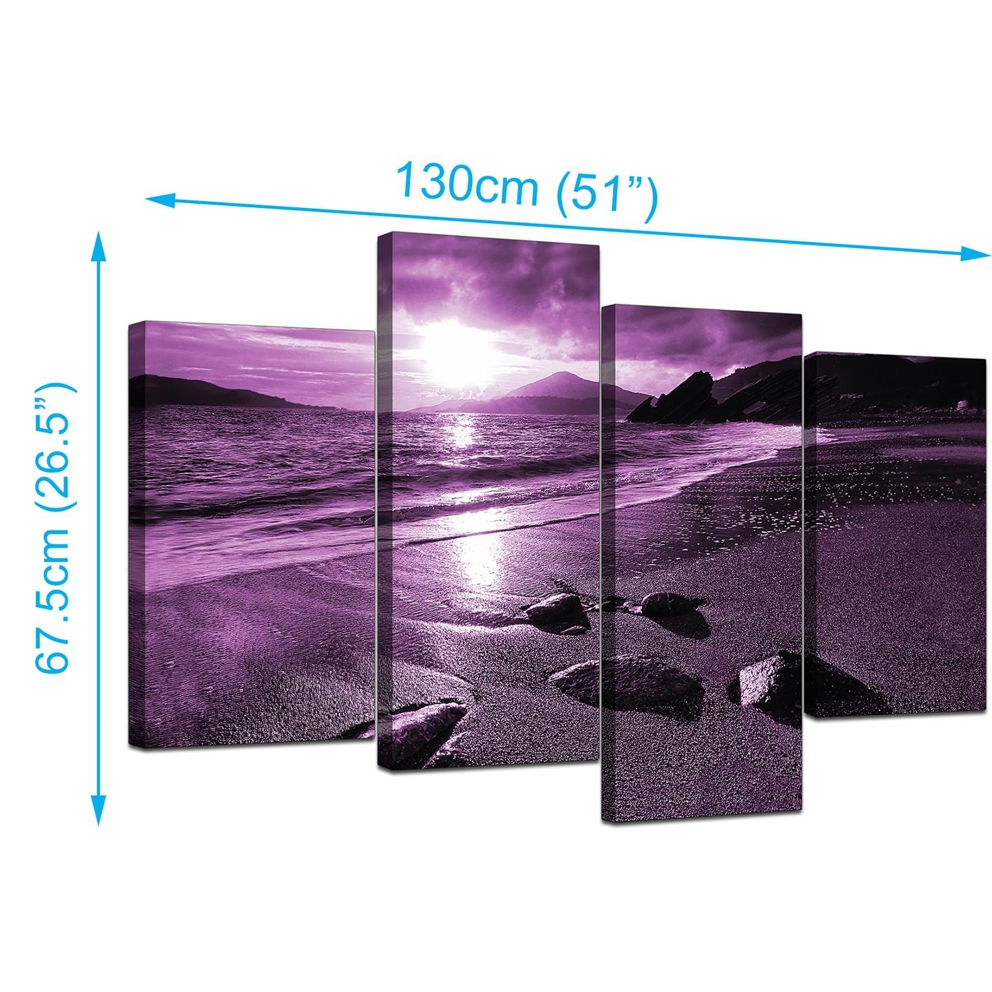 Purple Canvas Wall Art | Roselawnlutheran Within Purple Wall Art Canvas (Image 14 of 20)