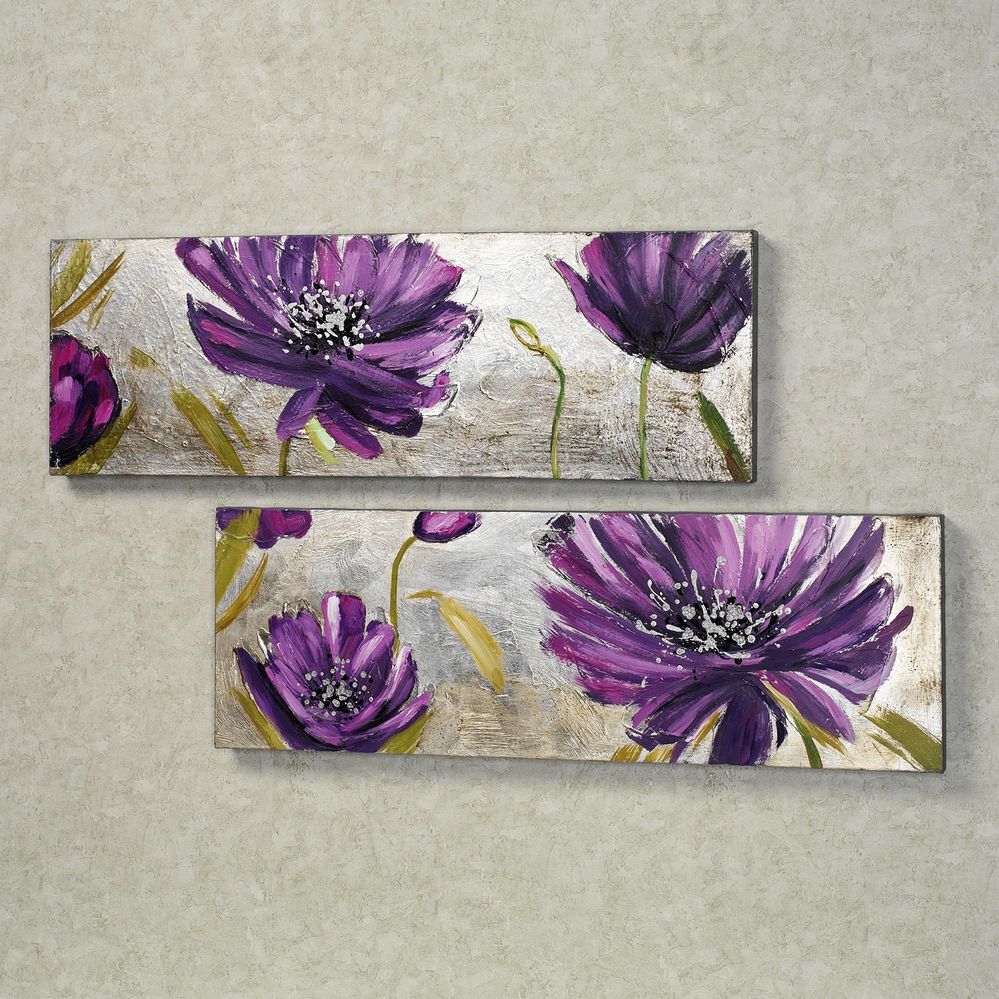 Purple Flower Wall Art Metal Wall Art For Metal Tree Wall Art Throughout Purple Flower Metal Wall Art (View 4 of 20)