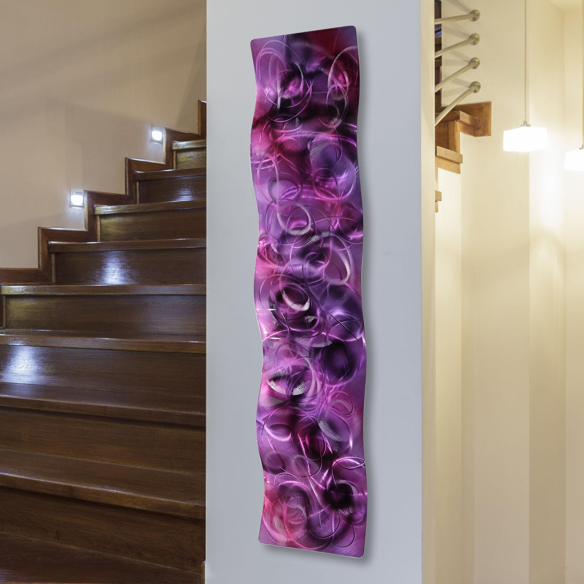 Purple Majesty – Purple Metal Abstract Modern Metal Wall Art Pertaining To Purple Abstract Wall Art (View 9 of 20)