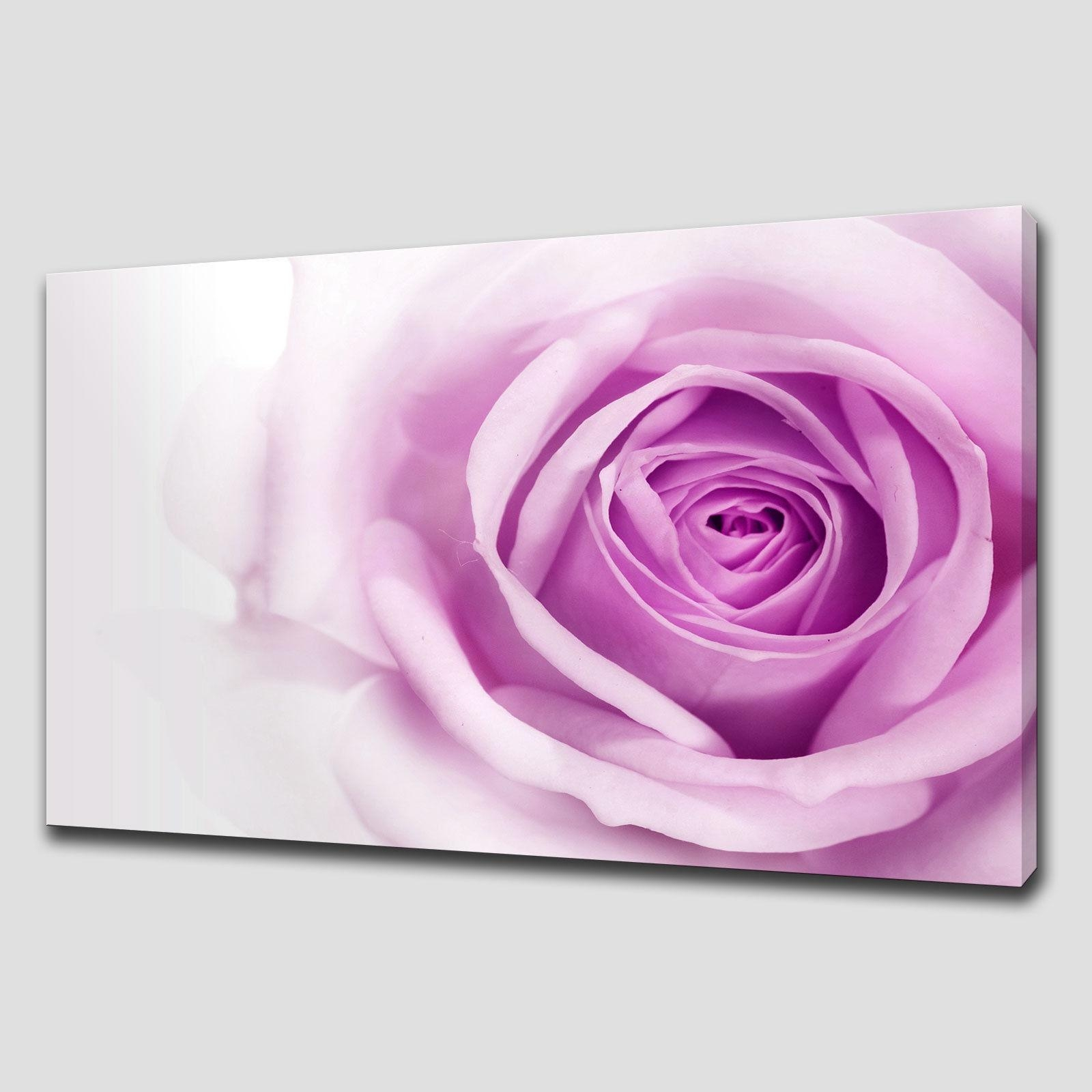 Purple Rose Large Canvas Wall Art Pictures Prints – Canvas Print Art Intended For Purple Wall Art Canvas (Image 15 of 20)