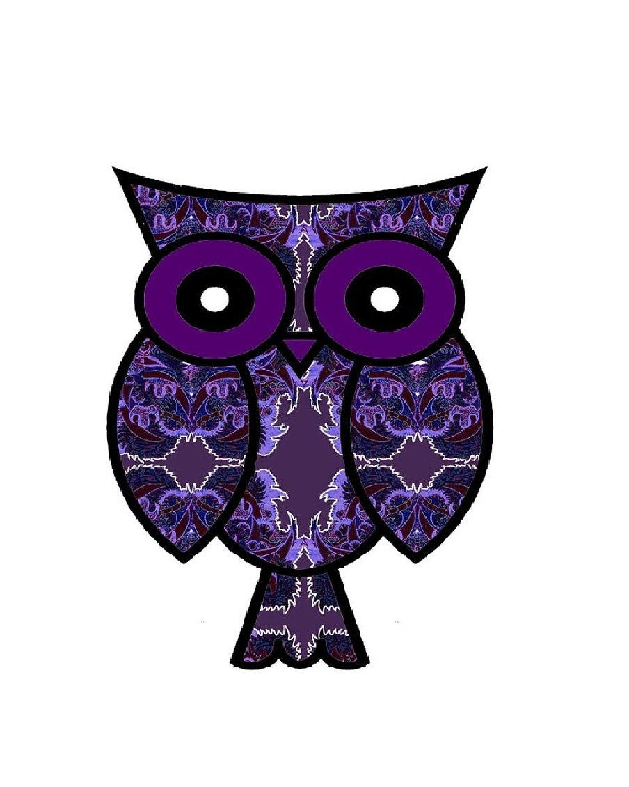 Purple Wall Art Modern Purple Art Purple Owl Owl Poster Within Purple Wall Art (Image 17 of 20)