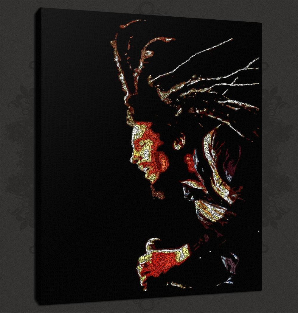 Quality Canvas Print Art intended for Bob Marley Canvas Wall Art