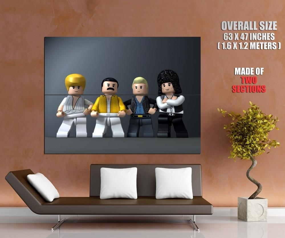 Queen Band Freddie Mercury Lego Music Wall Print Poster Intended For Freddie Mercury Wall Art (Image 20 of 20)