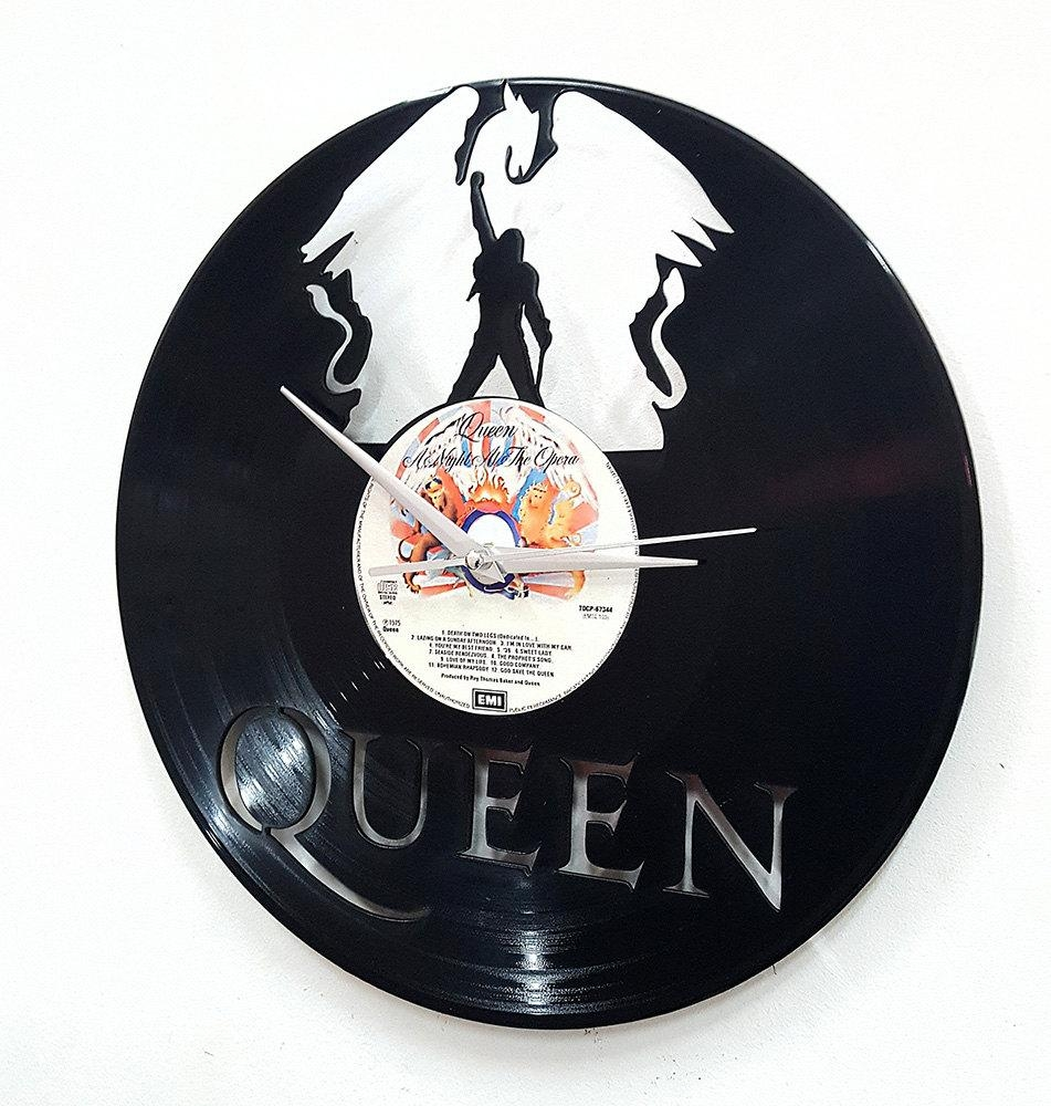 Queen  Freddie Mercury Wall Art  Vinyl Lp Record Clock Or Framed Throughout Freddie Mercury Wall Art (Image 19 of 20)