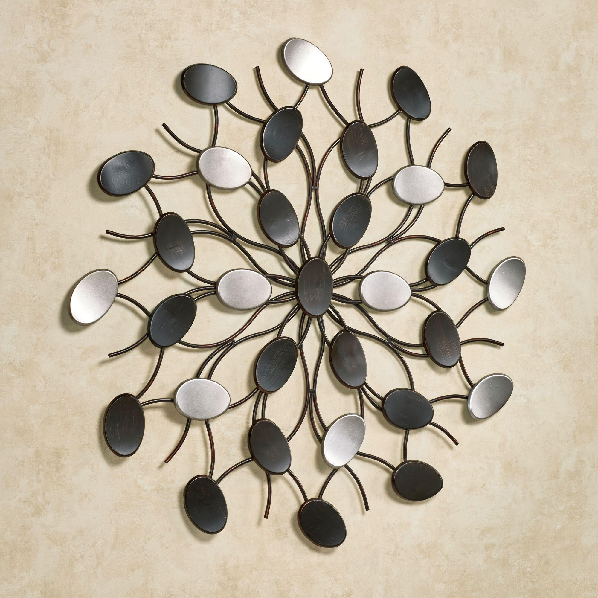 Radiant Petals Abstract Metal Wall Art With Metallic Wall Art (View 7 of 20)