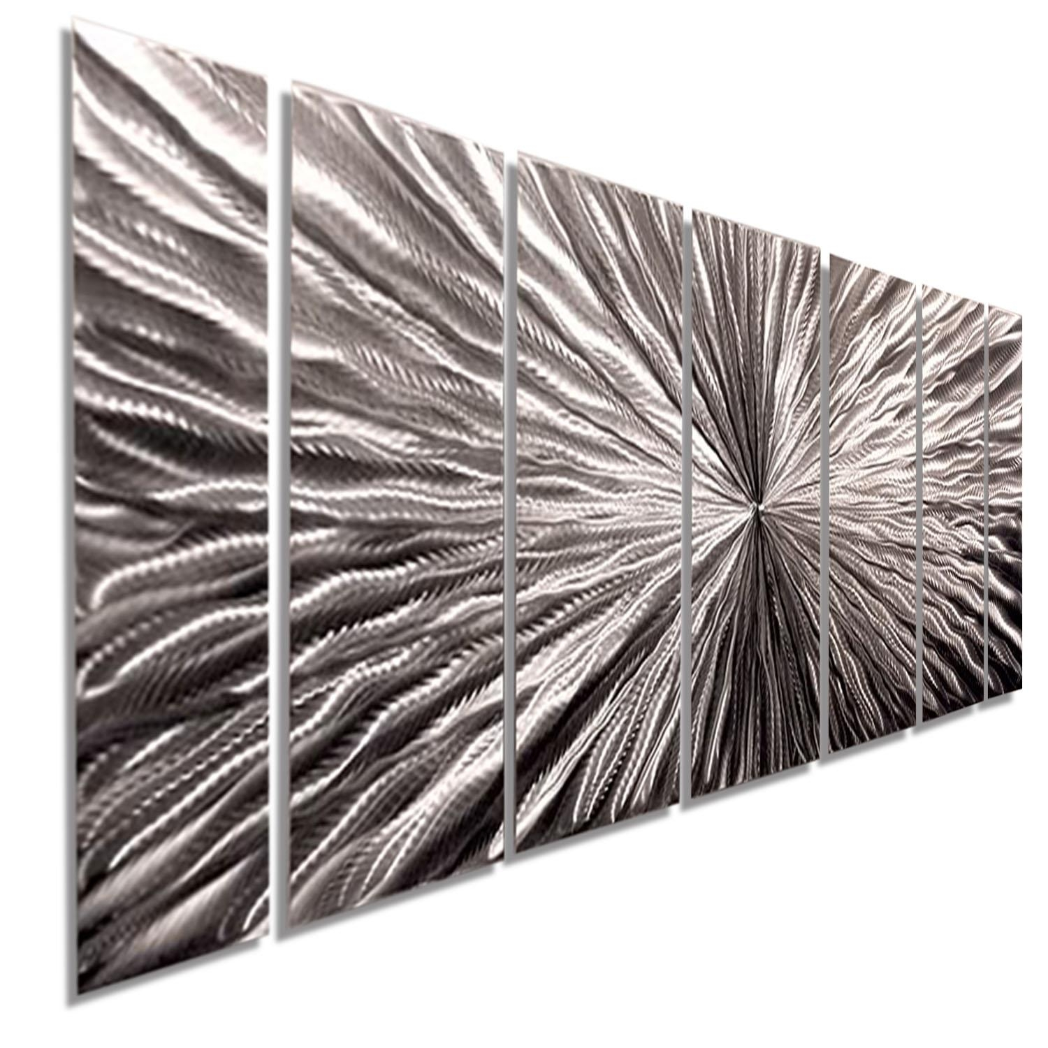 Radiant Velocity – Silver Contemporary Metal Wall Artjon Allen With Metallic Wall Art (Image 17 of 20)