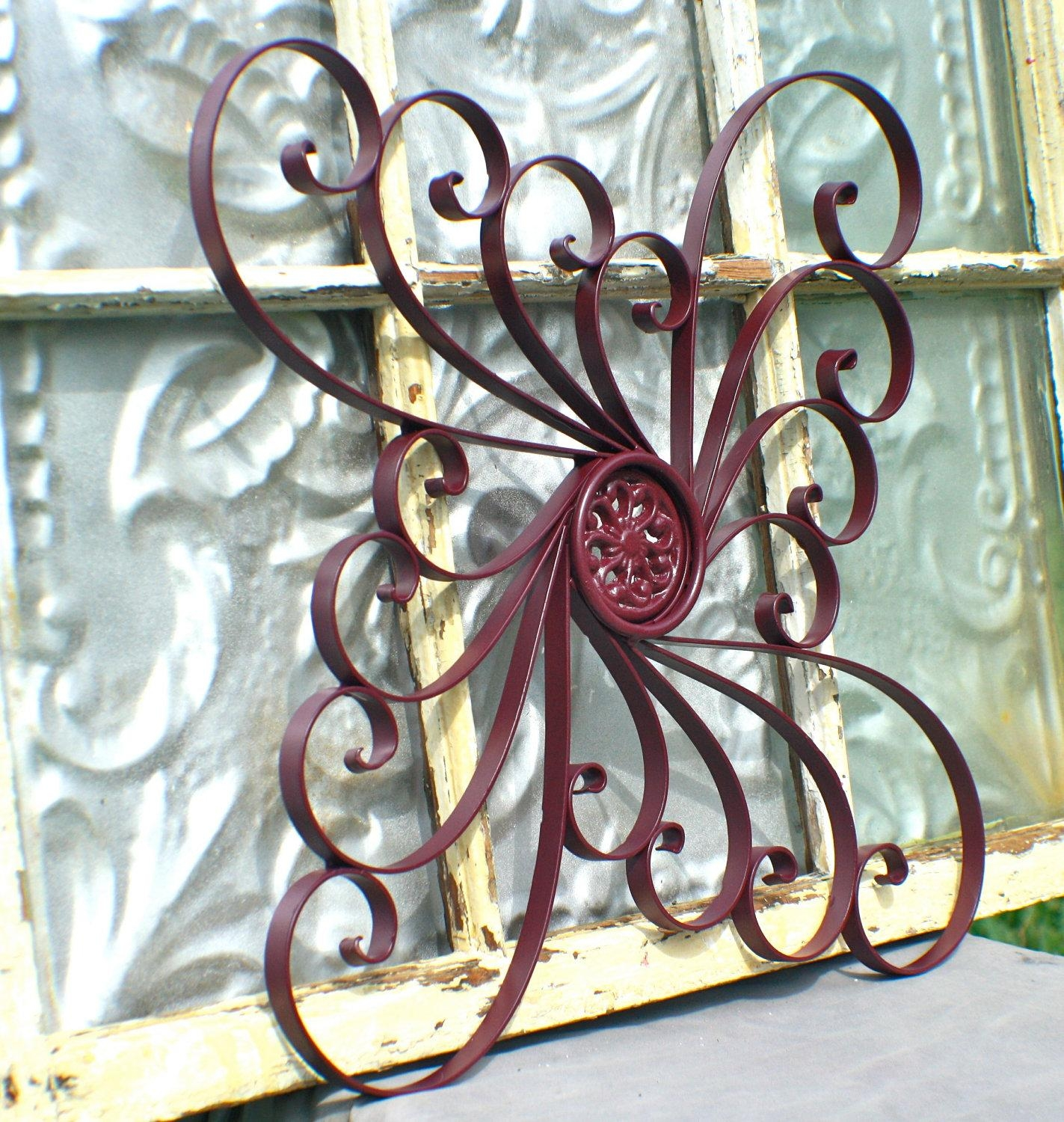 Railings Gates Polyvore Wall Decor Home Decor | Kohl's Outdoor In Wrought Iron Garden Wall Art (Image 10 of 20)
