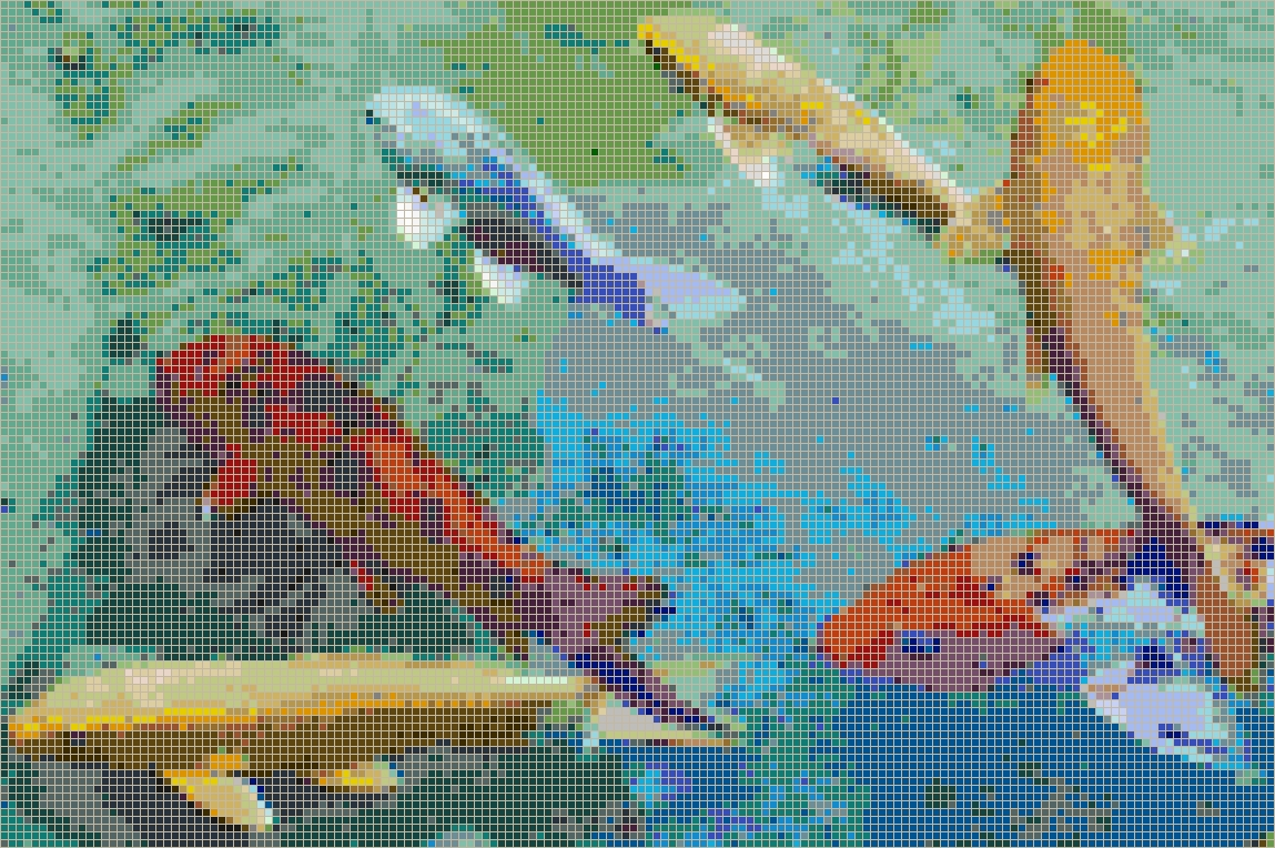 Rainbow Koi – Framed Mosaic Wall Art Intended For Pixel Mosaic Wall Art (View 15 of 20)