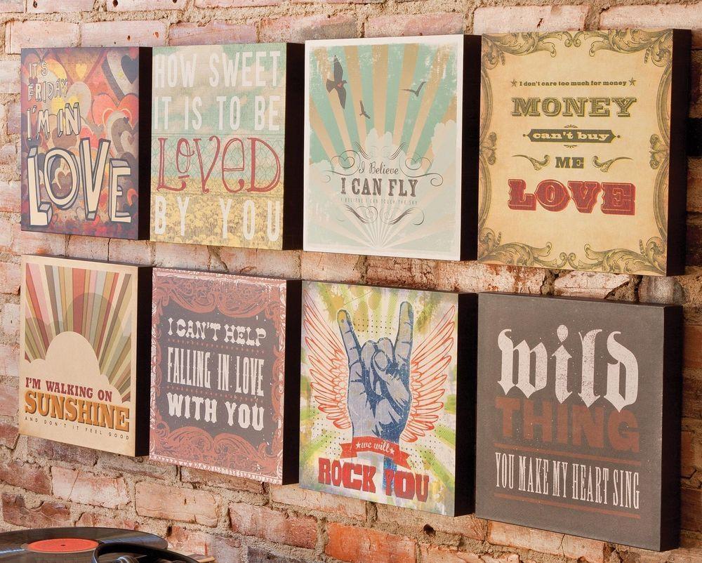 Range Of Lyricology Song Title Lyrics Words Hanging Canvas Wall for Music Lyrics Wall Art