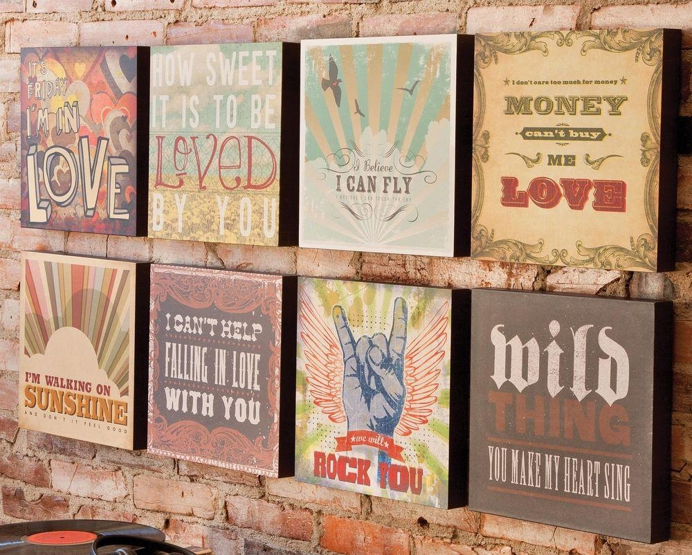 Range Of Lyricology Song Title Lyrics Words Hanging Canvas Wall In Lyricology Wall Art (View 1 of 20)