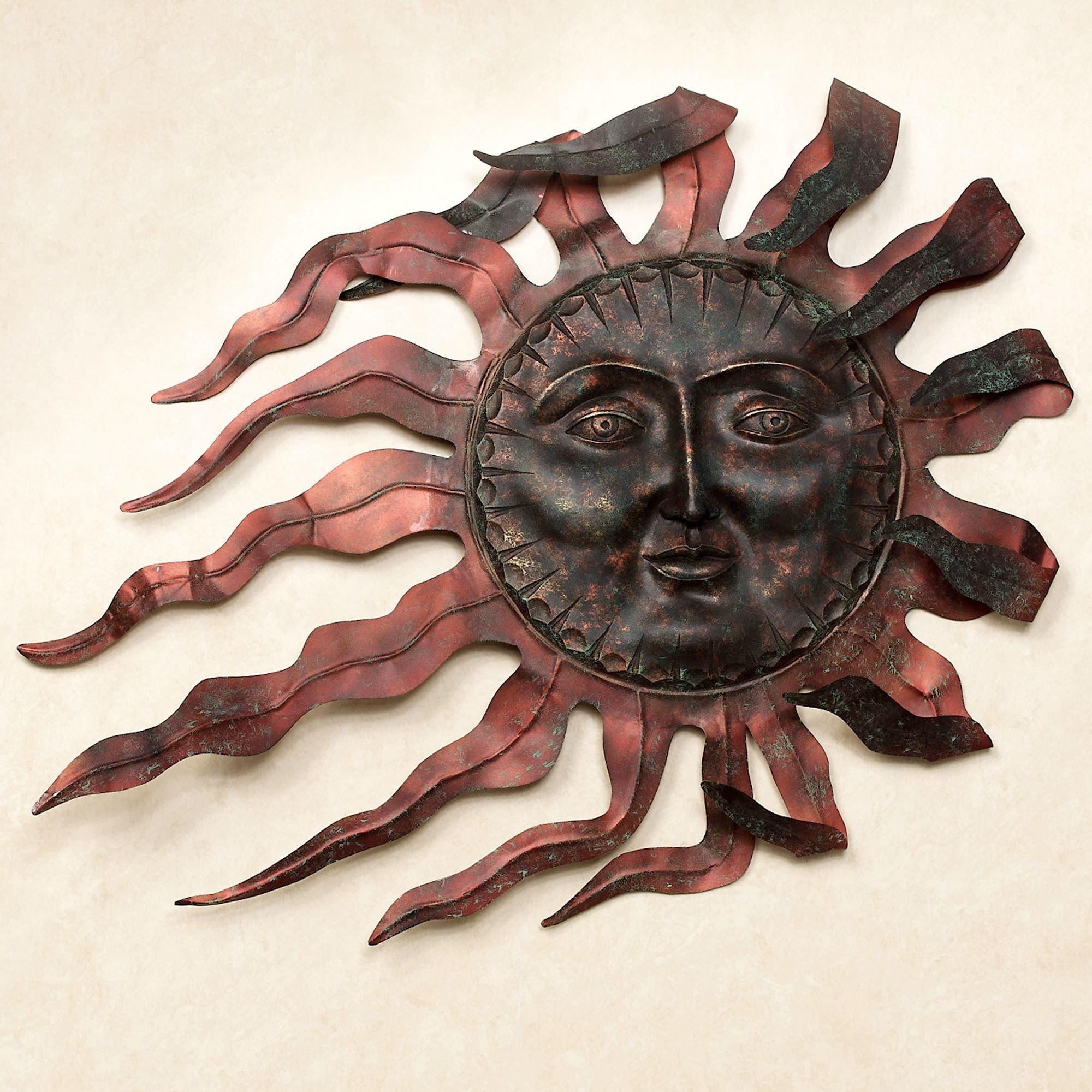 Ray Du Soleil Indoor Outdoor Metal Wall Sculpture With Regard To Southwest Metal Wall Art (View 19 of 20)