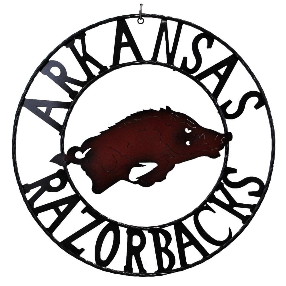 Razorbacks Wrought Iron Sign, Fbpp0000013468 Within Razorback Wall Art (Image 19 of 20)