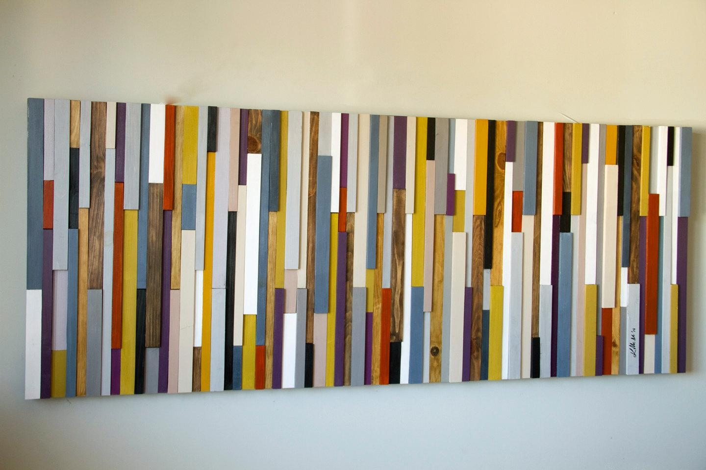 """Reclaimed Wood Art, Wood Wall Art Industrial Decor, """"fire Sparks Intended For Aubergine Wall Art (View 5 of 20)"""