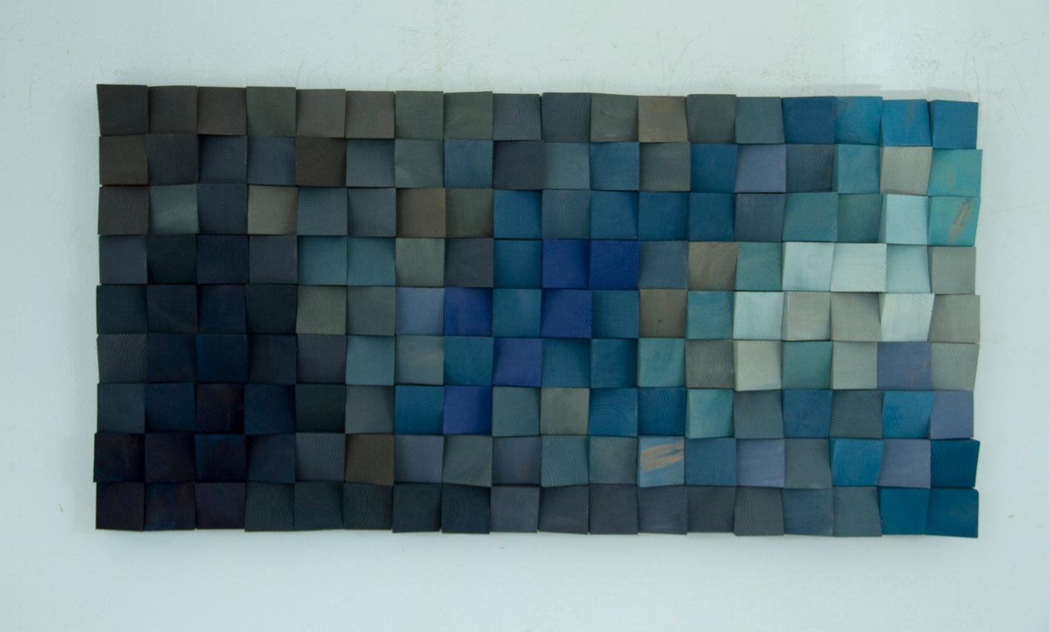 """Reclaimed Wood Wall Art, Rustic Wall Art """"the Northern Lights For Aubergine Wall Art (View 14 of 20)"""