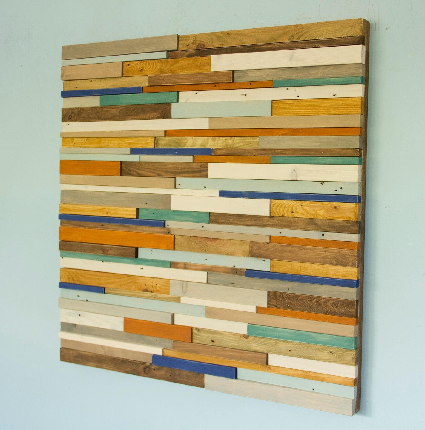 Reclaimed Wood Wall Art. Zoom (Image 16 of 20)