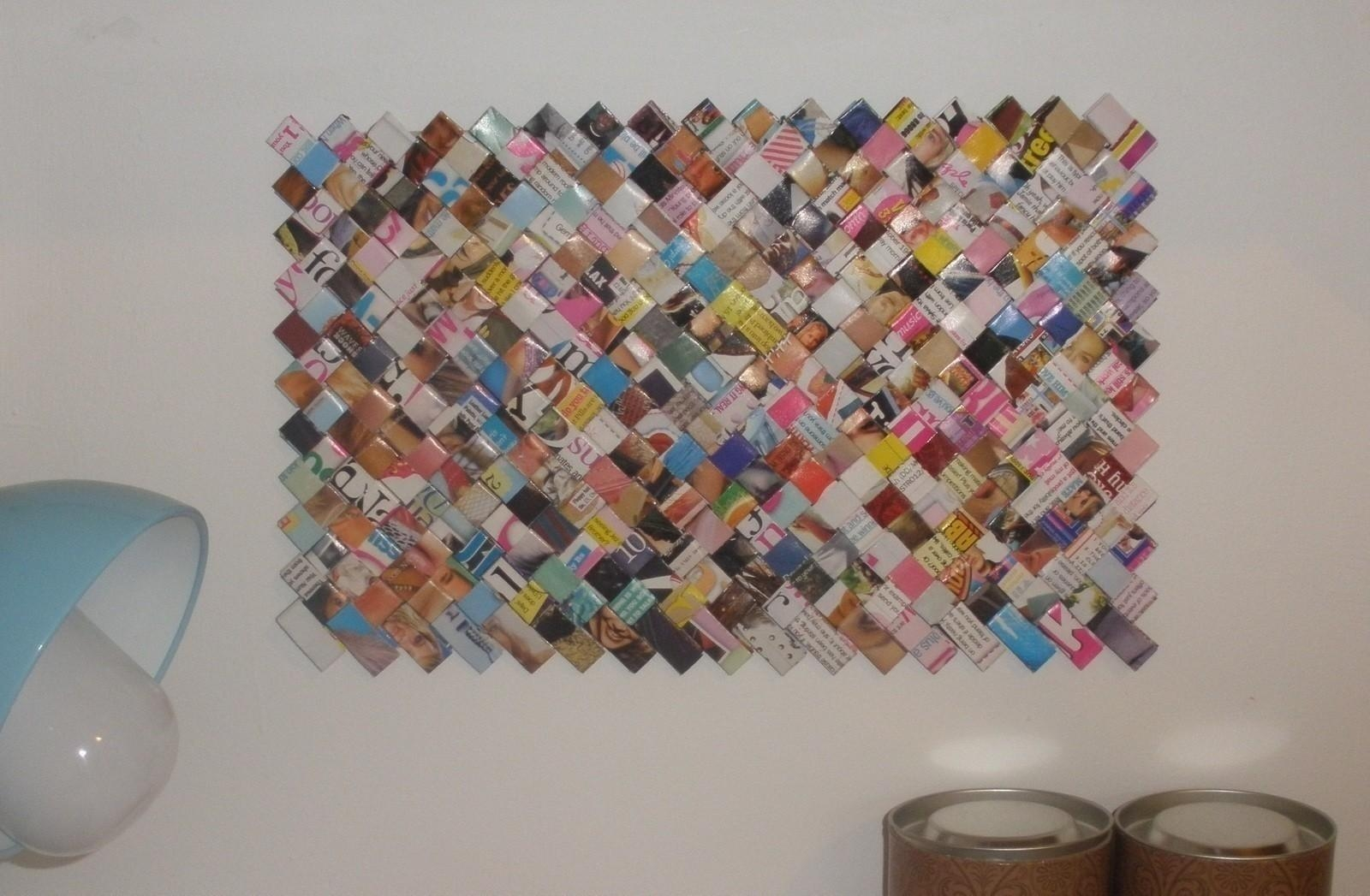 Recycled Magazine Wall Art · A Hanging · Versionivana H (Image 14 of 20)