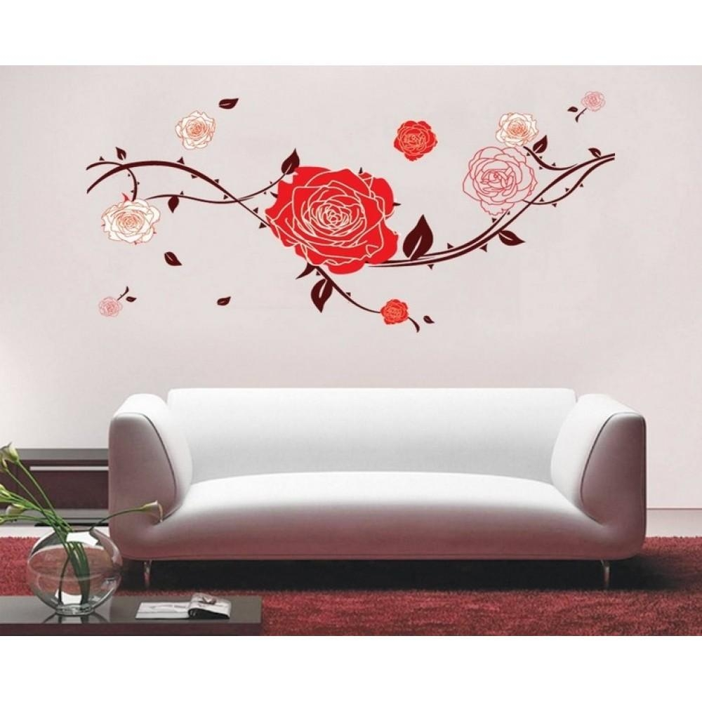 Red Roses Wall Sticker | Wallstickerscool (View 19 of 20)