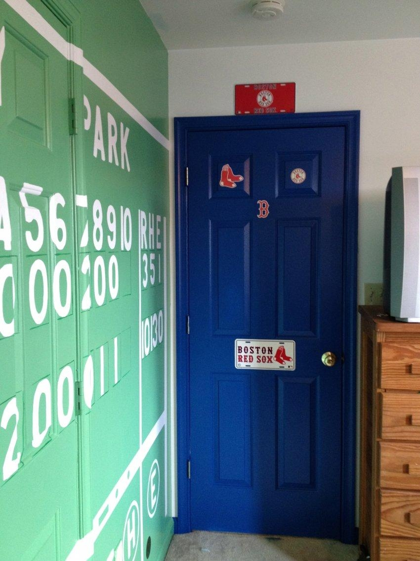 Red Sox Room Ideas Bedroom Lamp Shade Fenway Park Wall Decal Intended For Red Sox Wall Decals (View 2 of 20)
