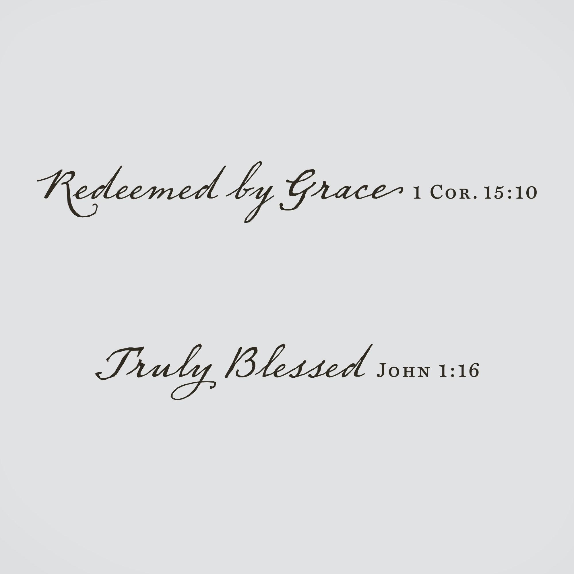 Redeemedgrace & Truly Blesse Vinyl Wall Art | Dayspring Throughout Grace Wall Art (View 20 of 20)