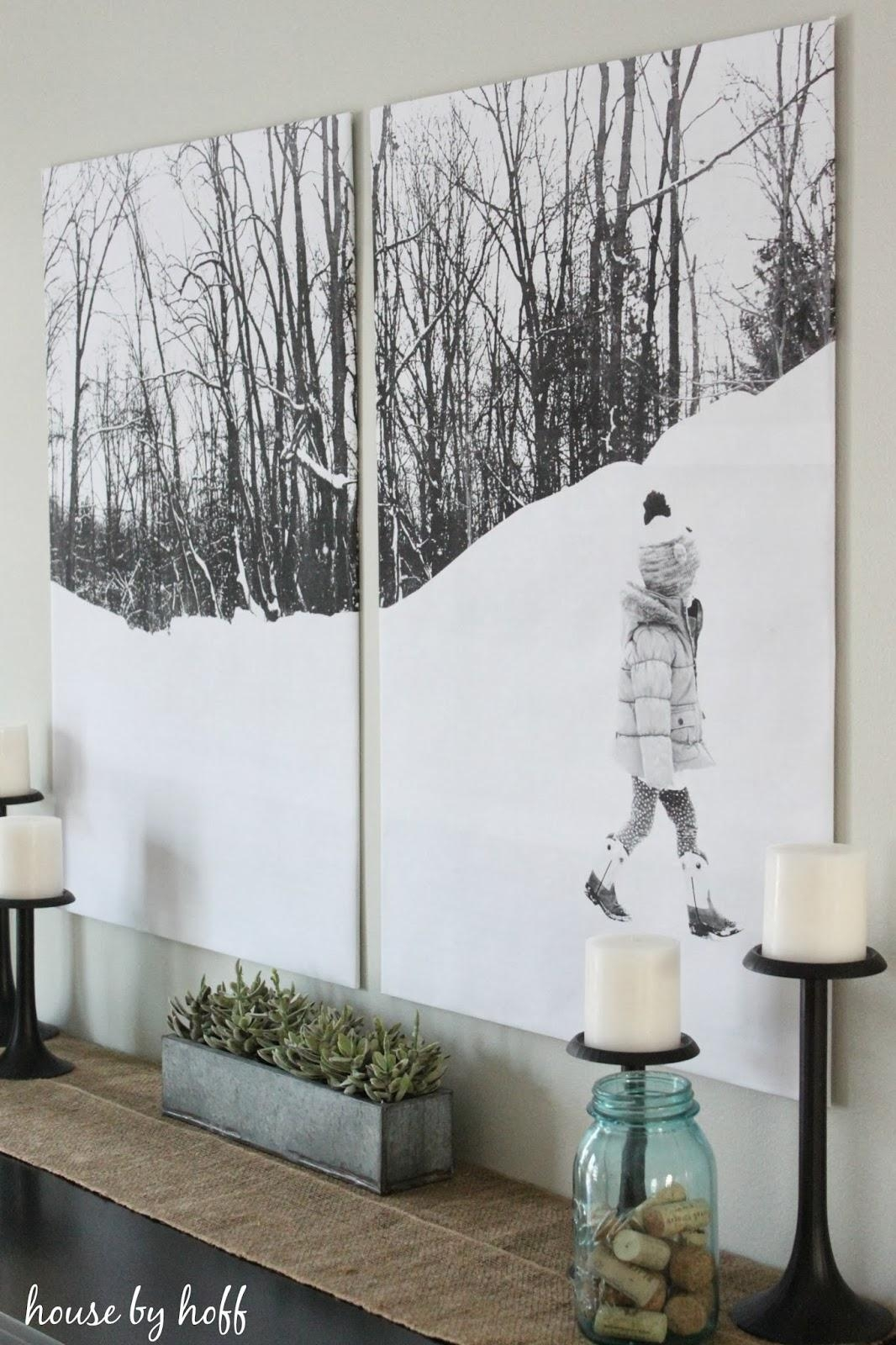 Remodelaholic | 60 Budget-Friendly Diy Large Wall Decor Ideas regarding Large White Wall Art