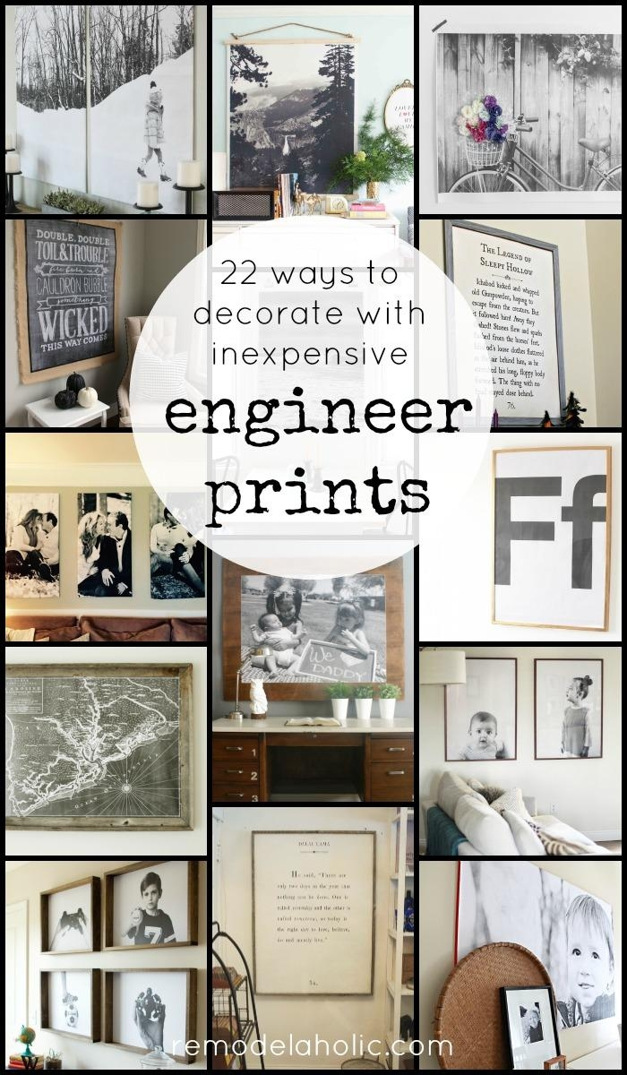 Remodelaholic | 60 Budget Friendly Diy Large Wall Decor Ideas Throughout Large Inexpensive Wall Art (Image 17 of 20)
