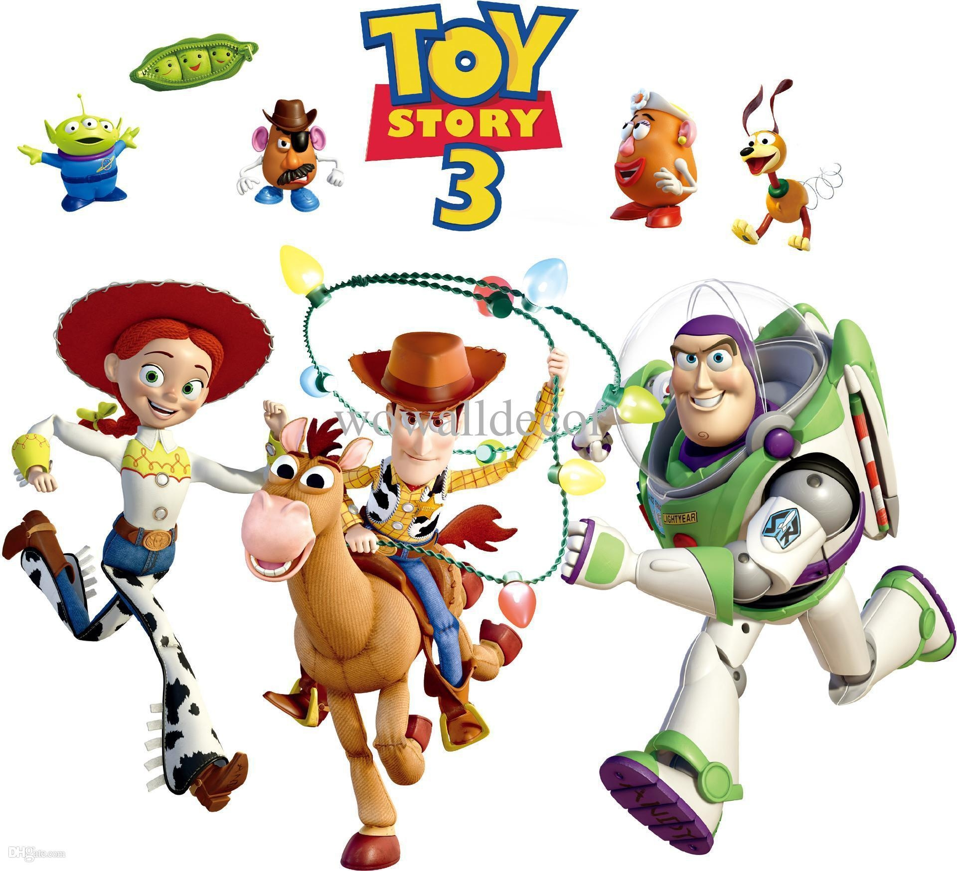Removable Pvc Toy Story 3 Woody Bullseye Wall Sticker For Kids in Toy Story Wall Stickers