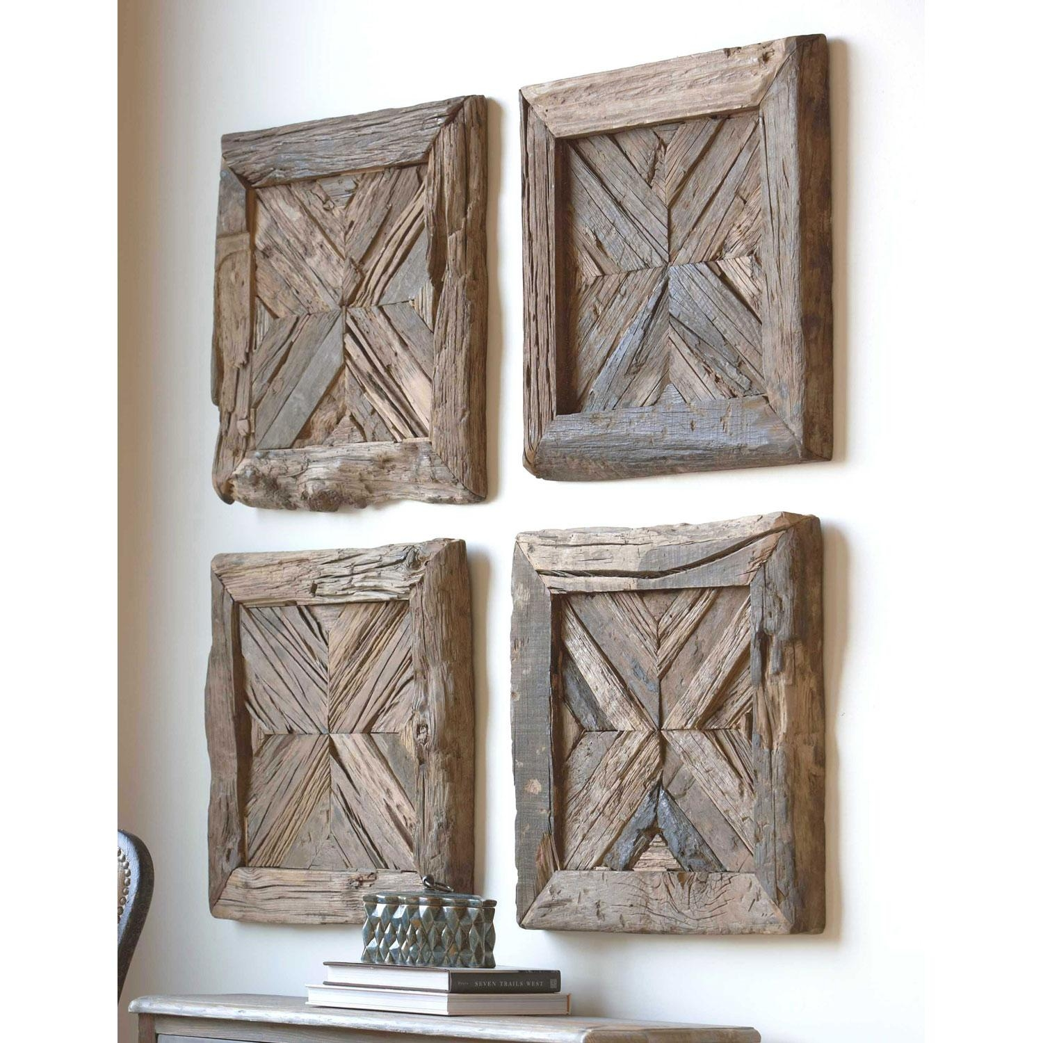 Rennick Rustic Wood Wall Art Uttermost Wall Sculpture Wall Decor Intended For Uttermost Metal Wall Art (View 6 of 20)