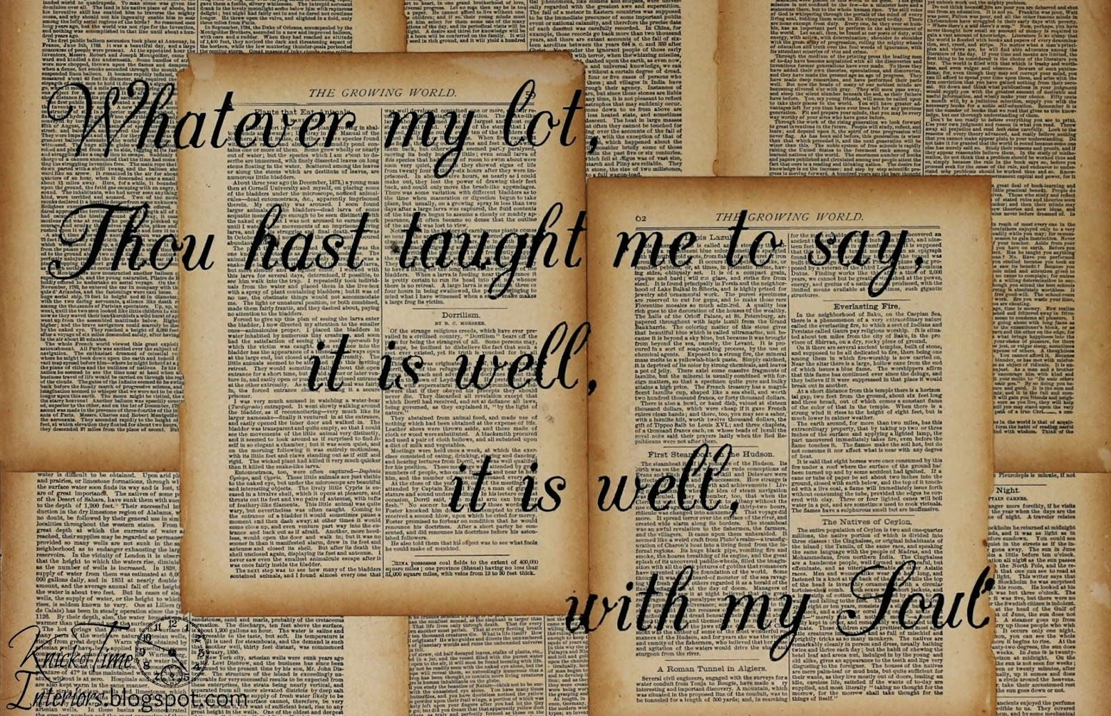 Repurposed Book Page Canvas Hymn Art – Knick Of Time In Decoupage Wall Art (Image 17 of 20)