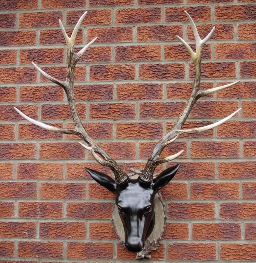 Resin Wall Art - Large Stag Head Trophy intended for Stag Wall Art