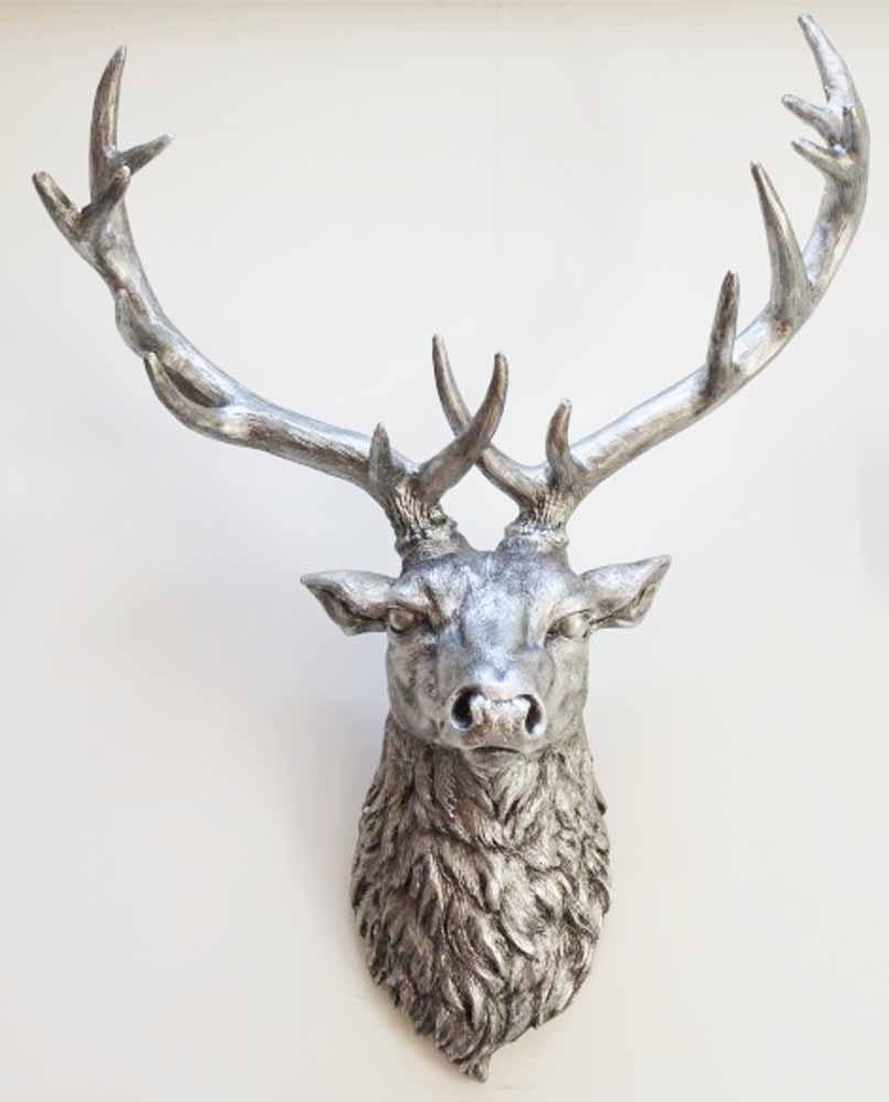 Resin Wall Art - Stags Head throughout Stag Head Wall Art