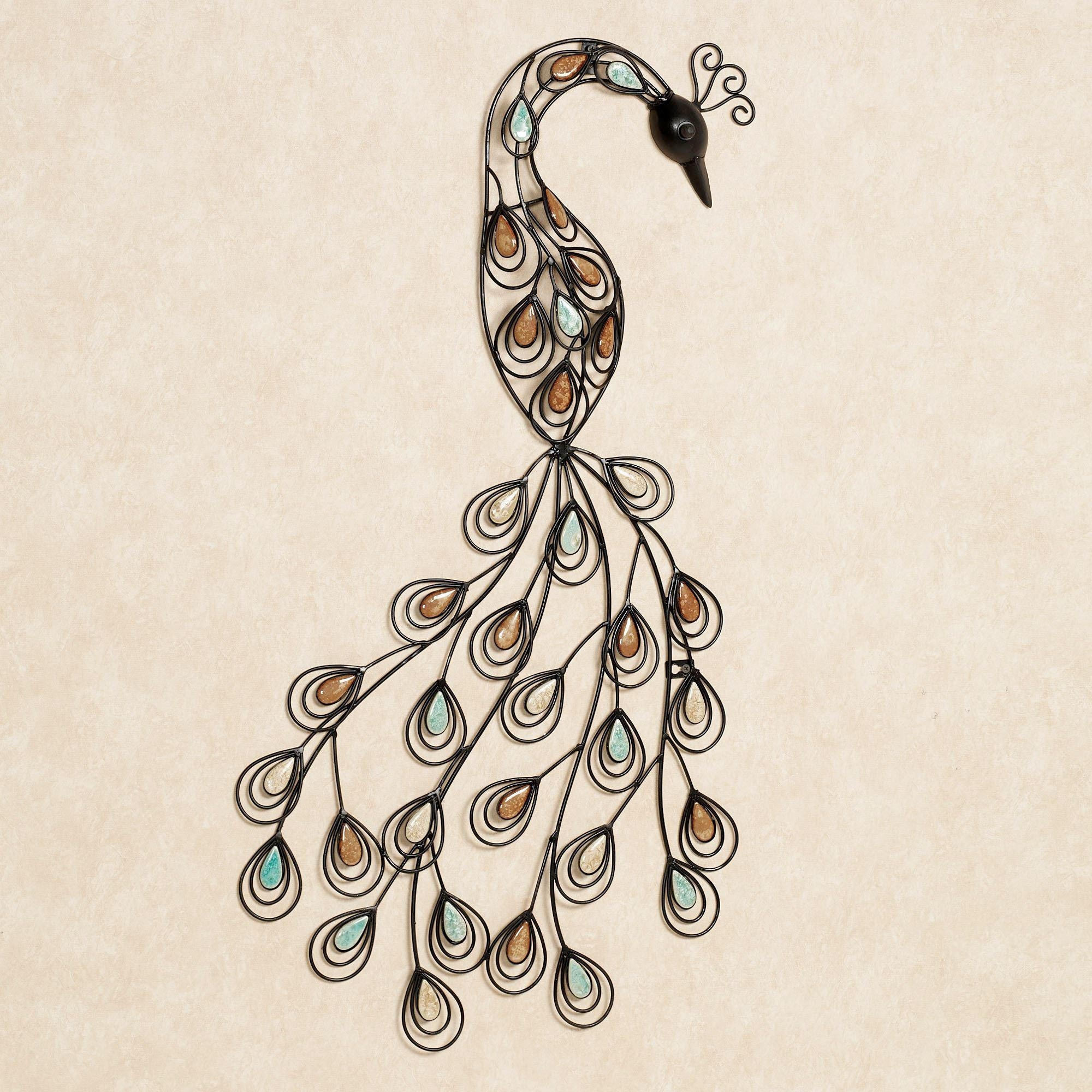 Featured Image of Peacock Metal Wall Art