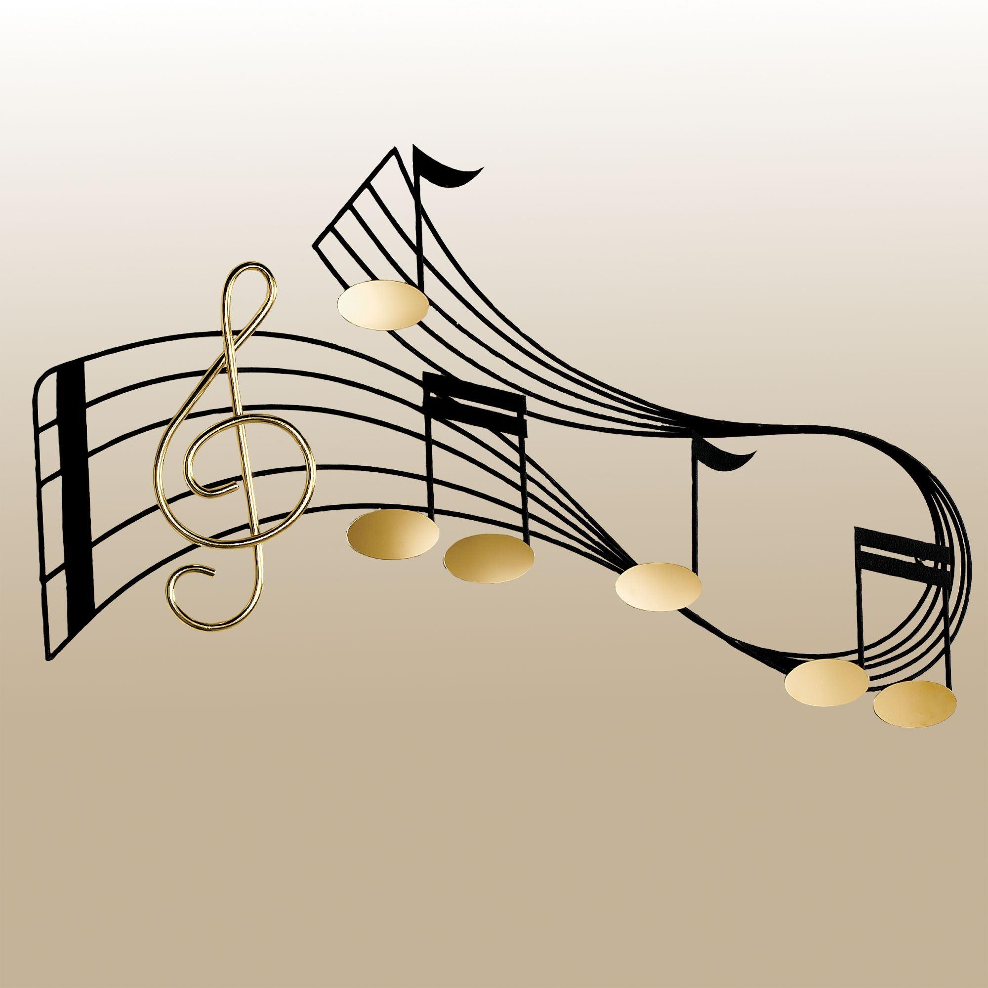 Rhythm Metal Wall Sculpture Throughout Metal Music Notes Wall Art (Image 11 of 20)
