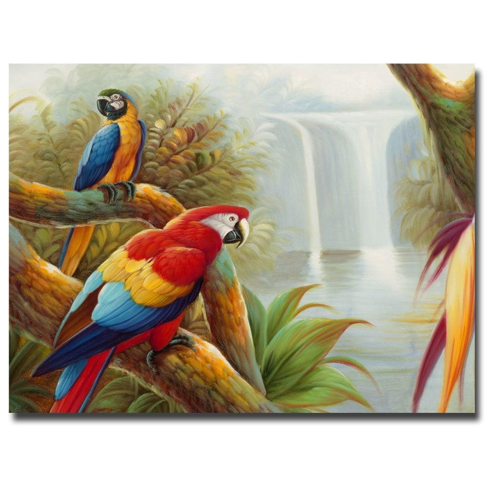 Rio 'amazon Waterfall' Canvas Wall Art – Free Shipping Today In Animal Canvas Wall Art (Image 17 of 20)