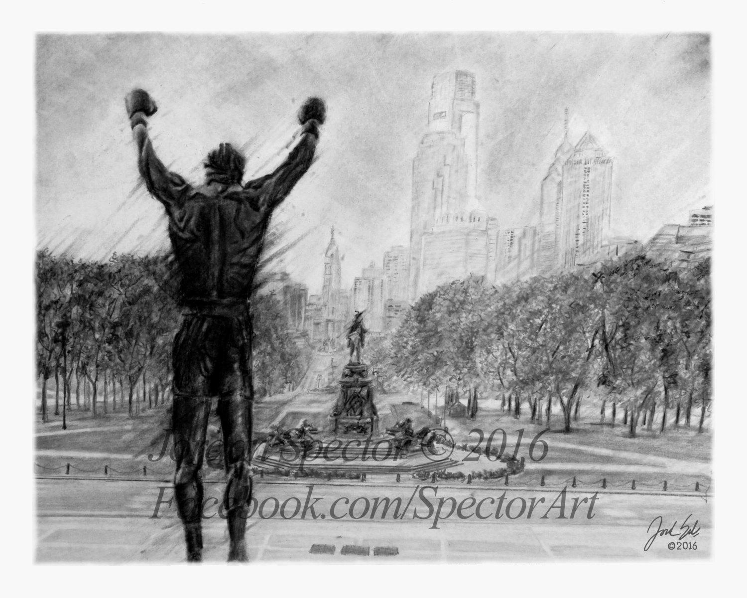 Rocky Balboa Rocky Art Print Black And White Rocky Intended For Rocky Balboa Wall Art (View 19 of 20)
