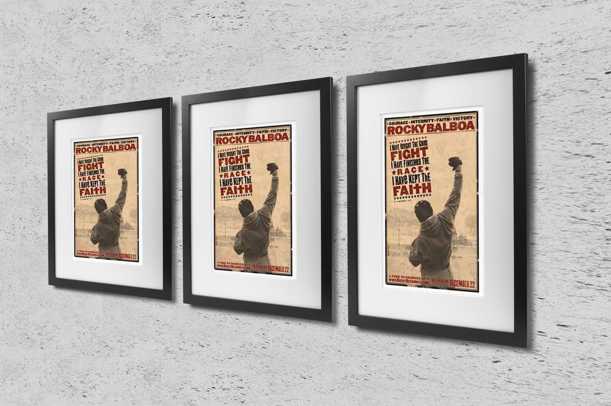 Rocky Balboa – Rocky Vi Actor Poster | Cubical Art | Gifts | Free Inside Rocky Balboa Wall Art (Image 12 of 20)