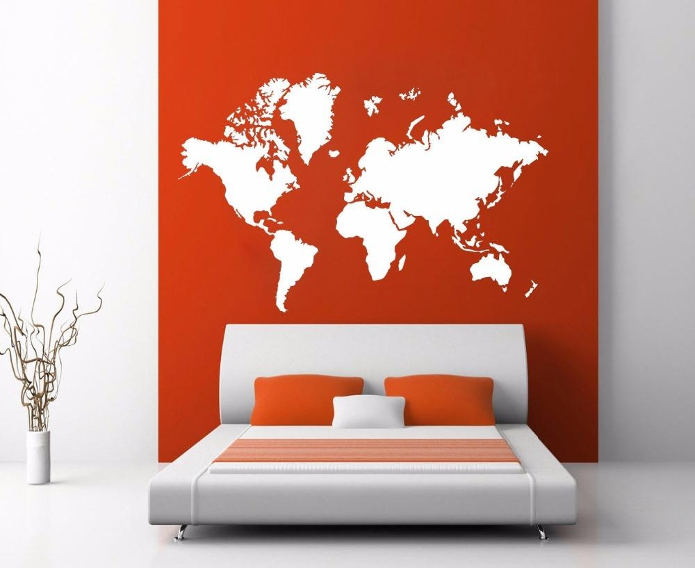 Room Decoration Picture – More Detailed Picture About World Map In Atlas Wall Art (View 15 of 20)