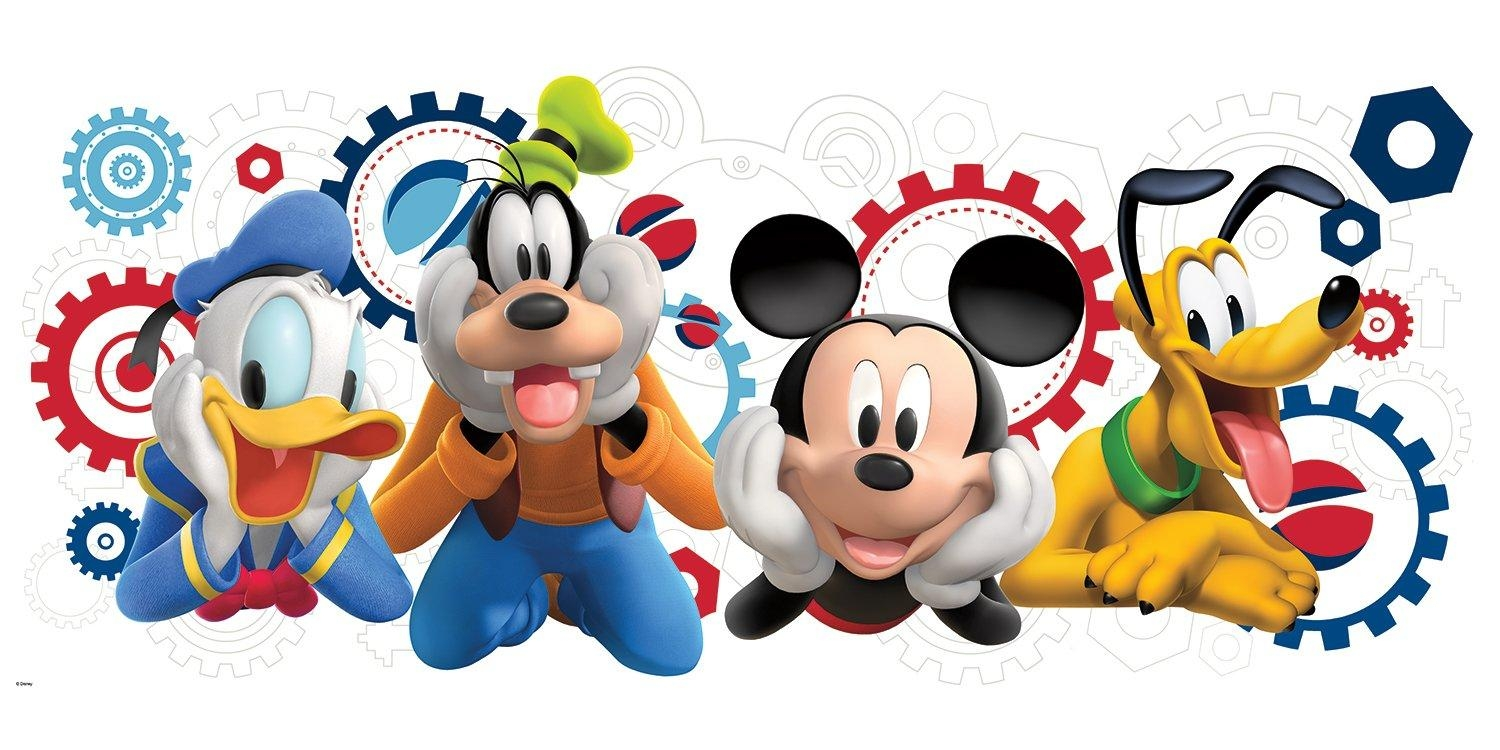 Room Mates Mickey And Friends Mickey Mouse Clubhouse Capers Giant inside Mickey Mouse Clubhouse Wall Art