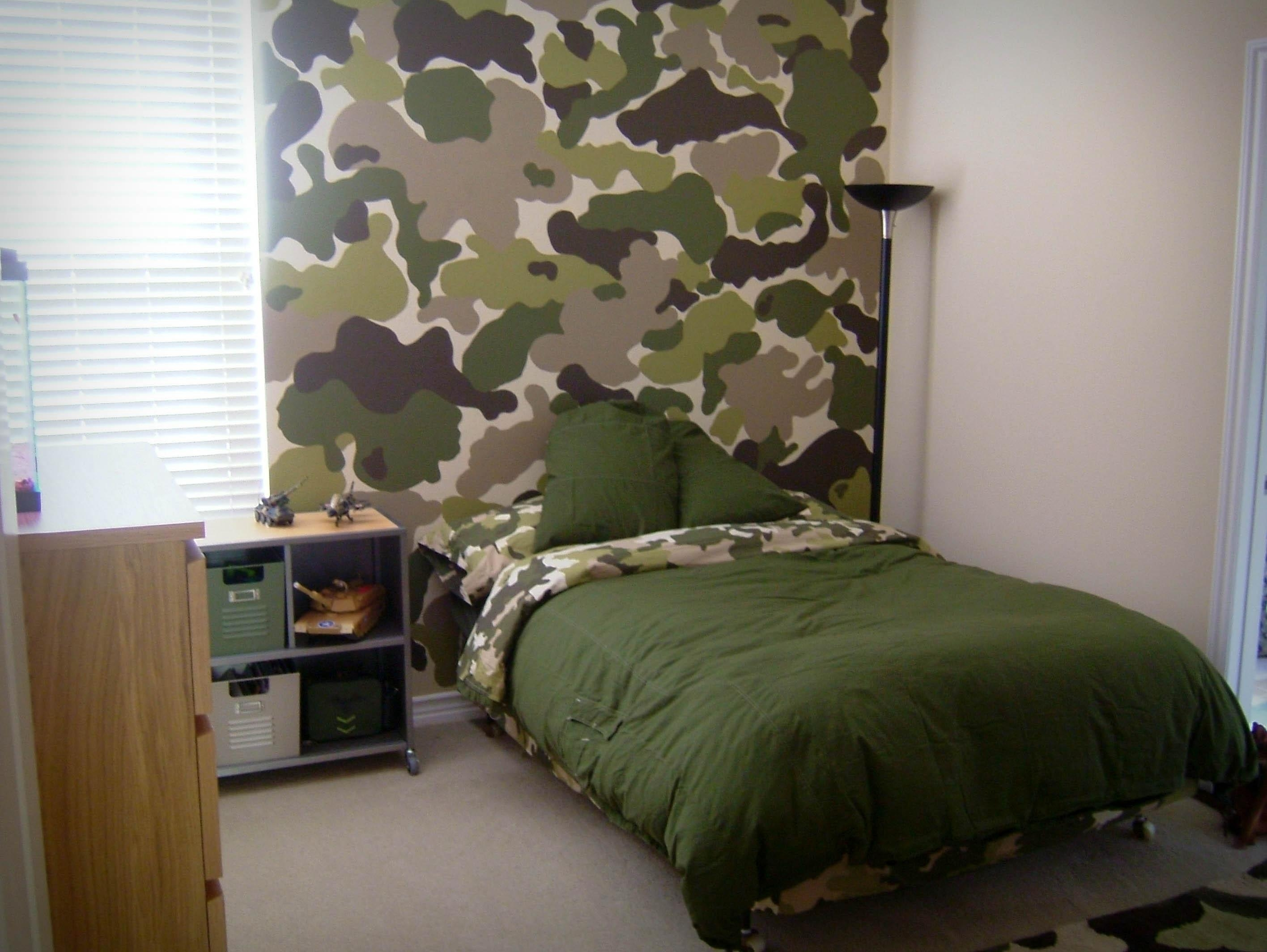 Room Swap Part 1 – The Modchik Pertaining To Camouflage Wall Art (View 3 of 20)