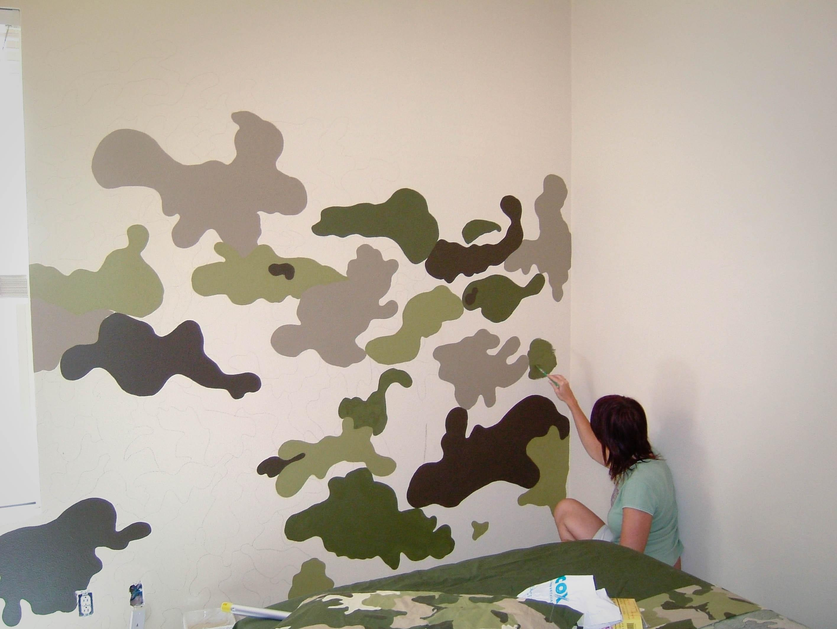 Room Swap Part 1 – The Modchik Pertaining To Camouflage Wall Art (Image 17 of 20)