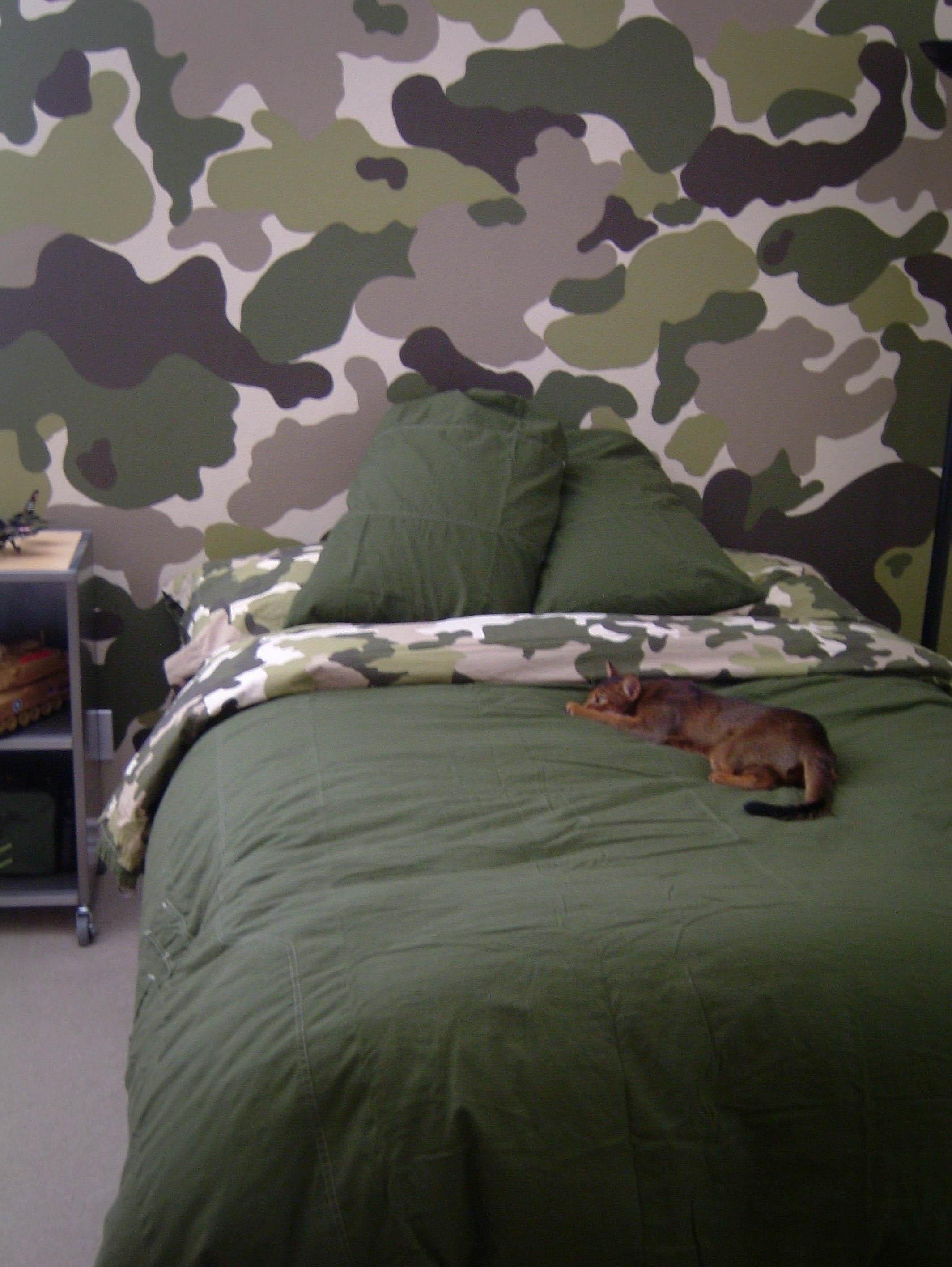 Room Swap Part 1 – The Modchik Regarding Camouflage Wall Art (Image 19 of 20)