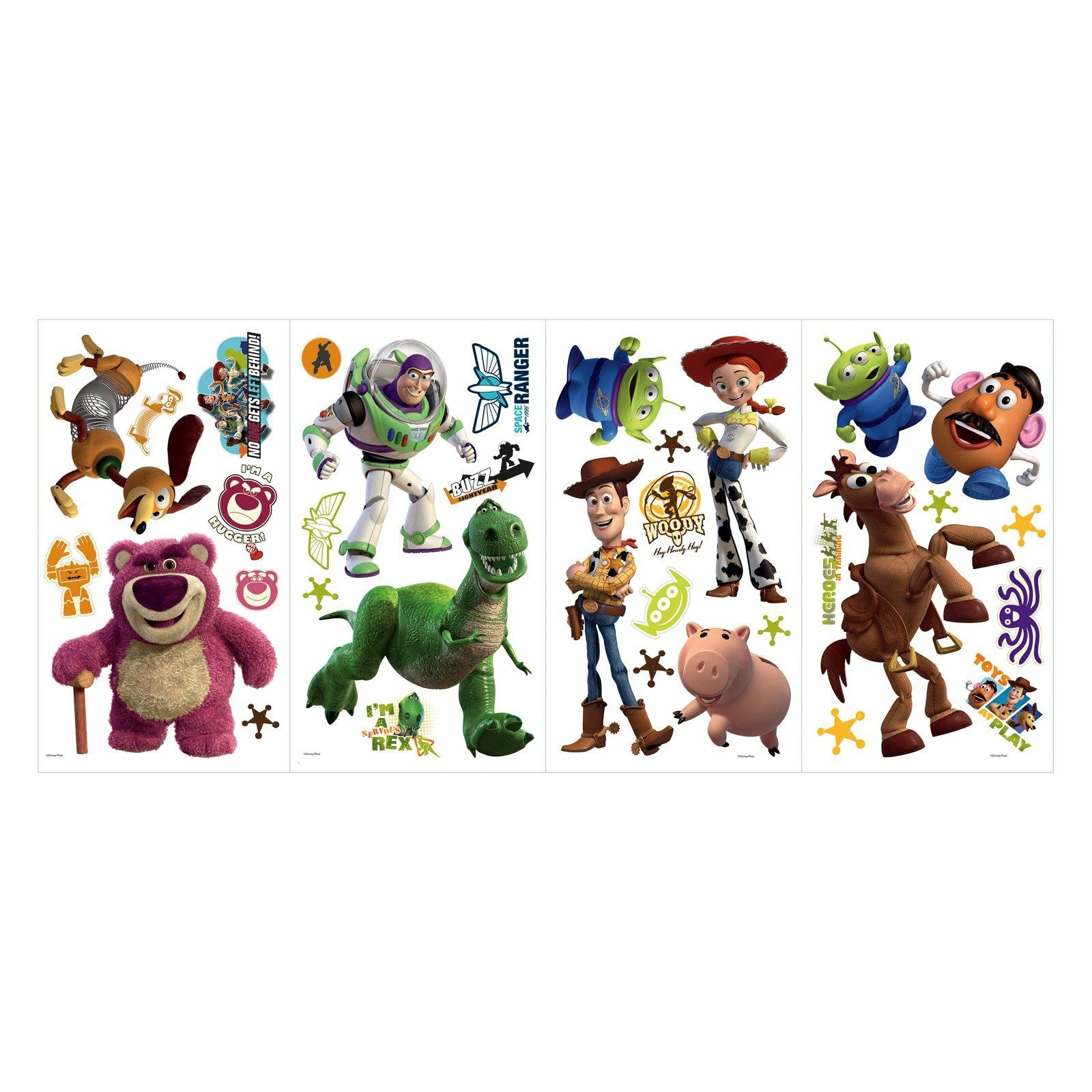 Roommates Disney Pixar Toy Story 3 Peel & Stick Wall Decals - Glow throughout Toy Story Wall Stickers