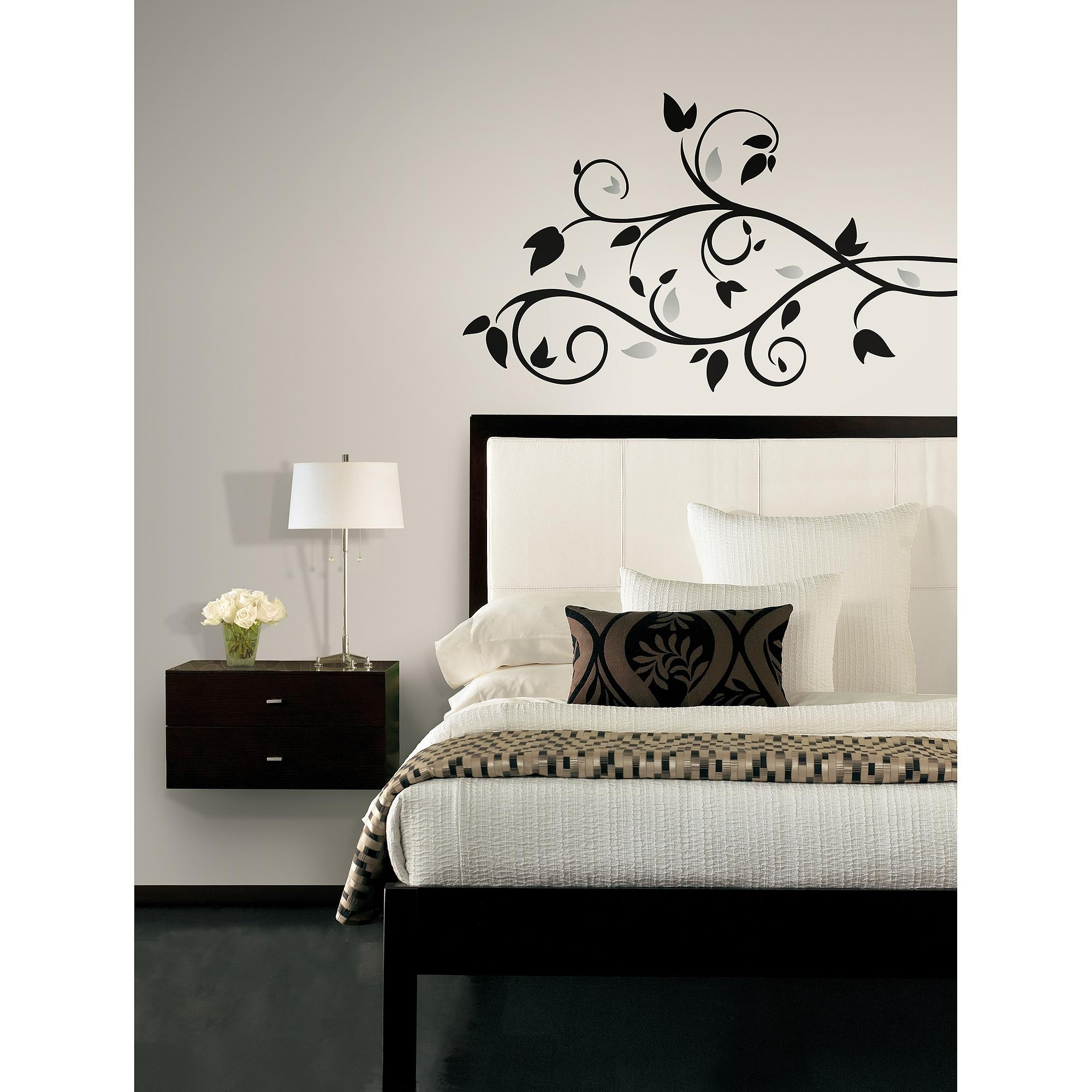 Roommates Foil Tree Branch Peel-And-Stick Wall Decal - Walmart intended for Walmart Wall Stickers