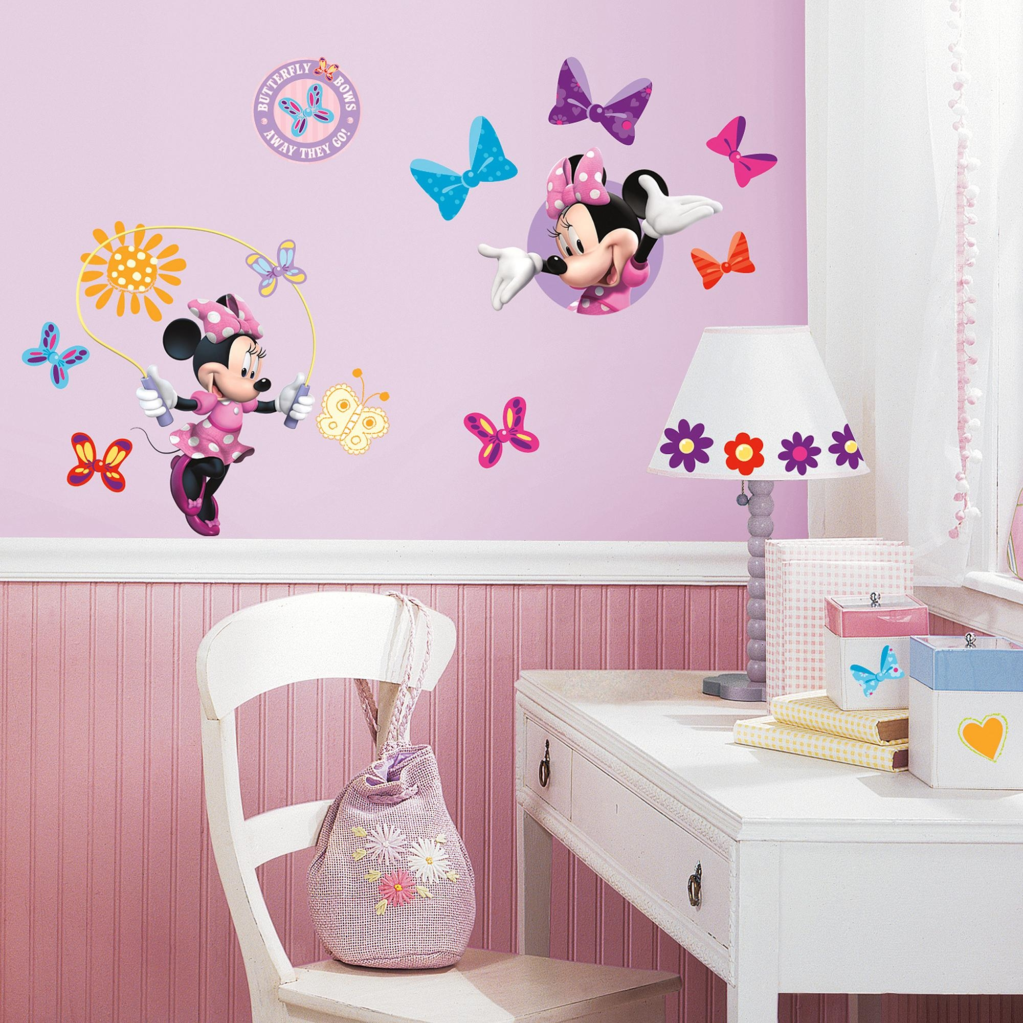 Roommates Mickey And Friends Minnie Bow-Tique Peel-And-Stick Wall for Walmart Wall Stickers