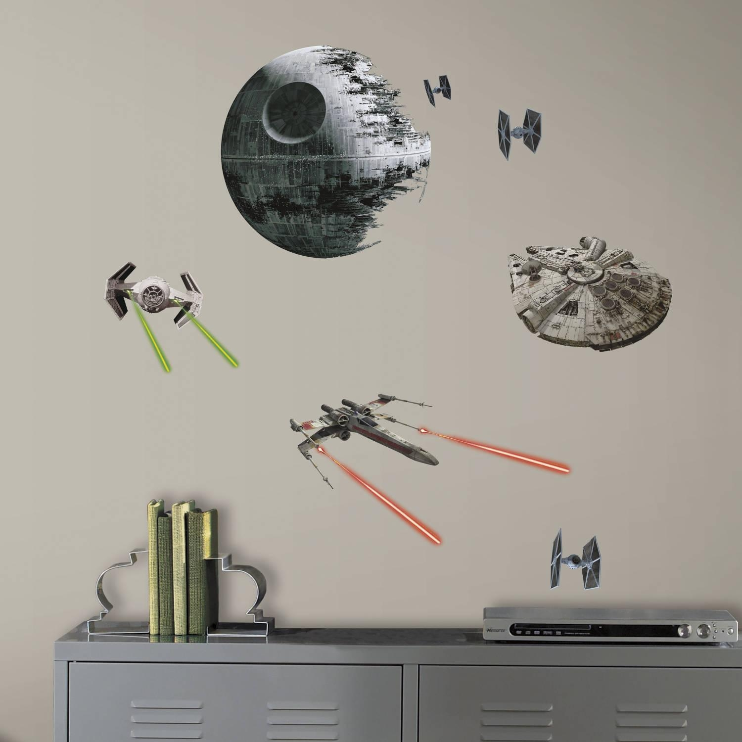 Roommates Star Wars Episode Vi Spaceships Peel And Stick Wall With Regard To Walmart Wall Stickers (Image 17 of 20)