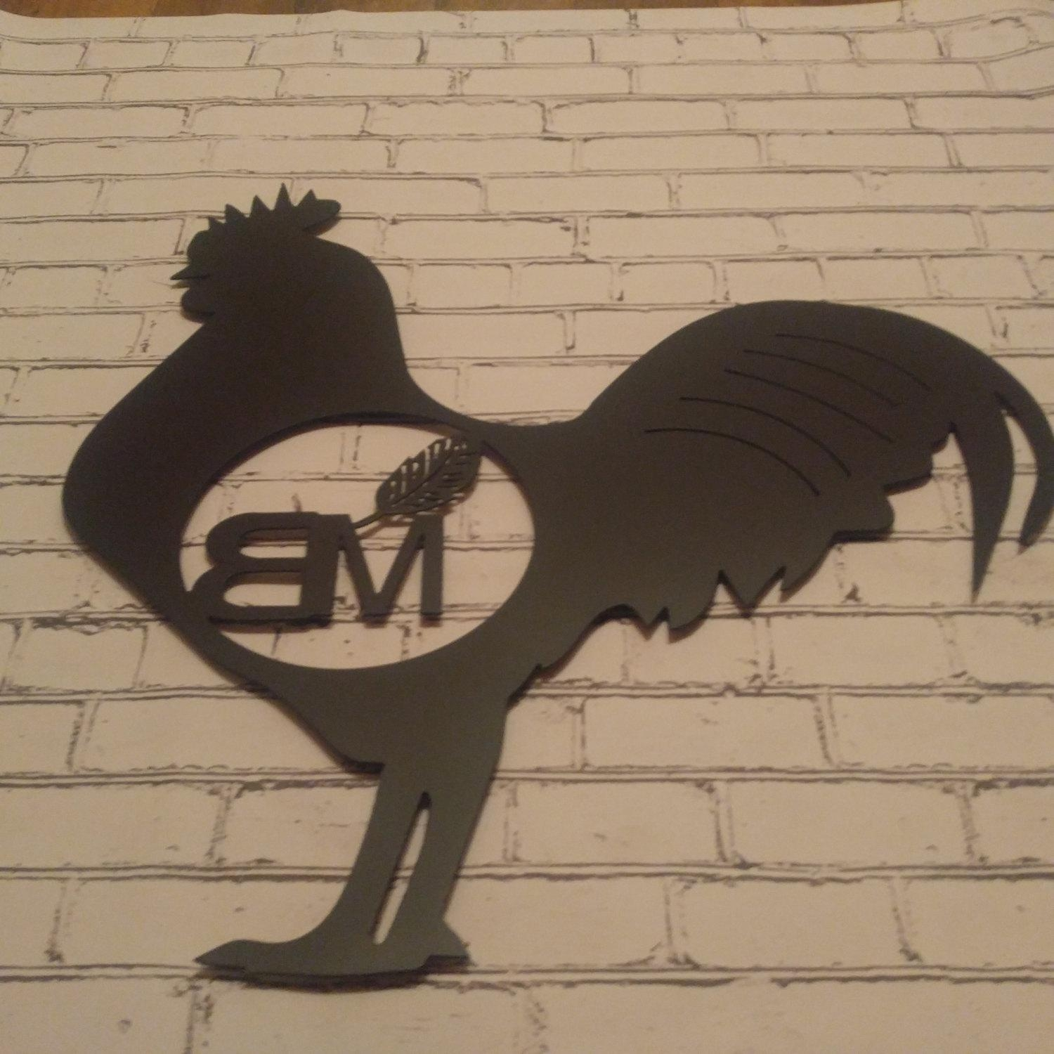 Rooster Farm Sign, Rooster Decor, Rooster Yard Art, Rooster With Regard To Metal Rooster Wall Decor (View 18 of 20)